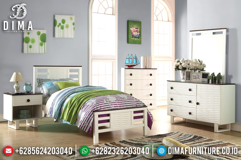 Kamar Set Minimalis, Tempat Tidur Anak Minimalis Mewah, Mebel Jepara Murah DF-0614