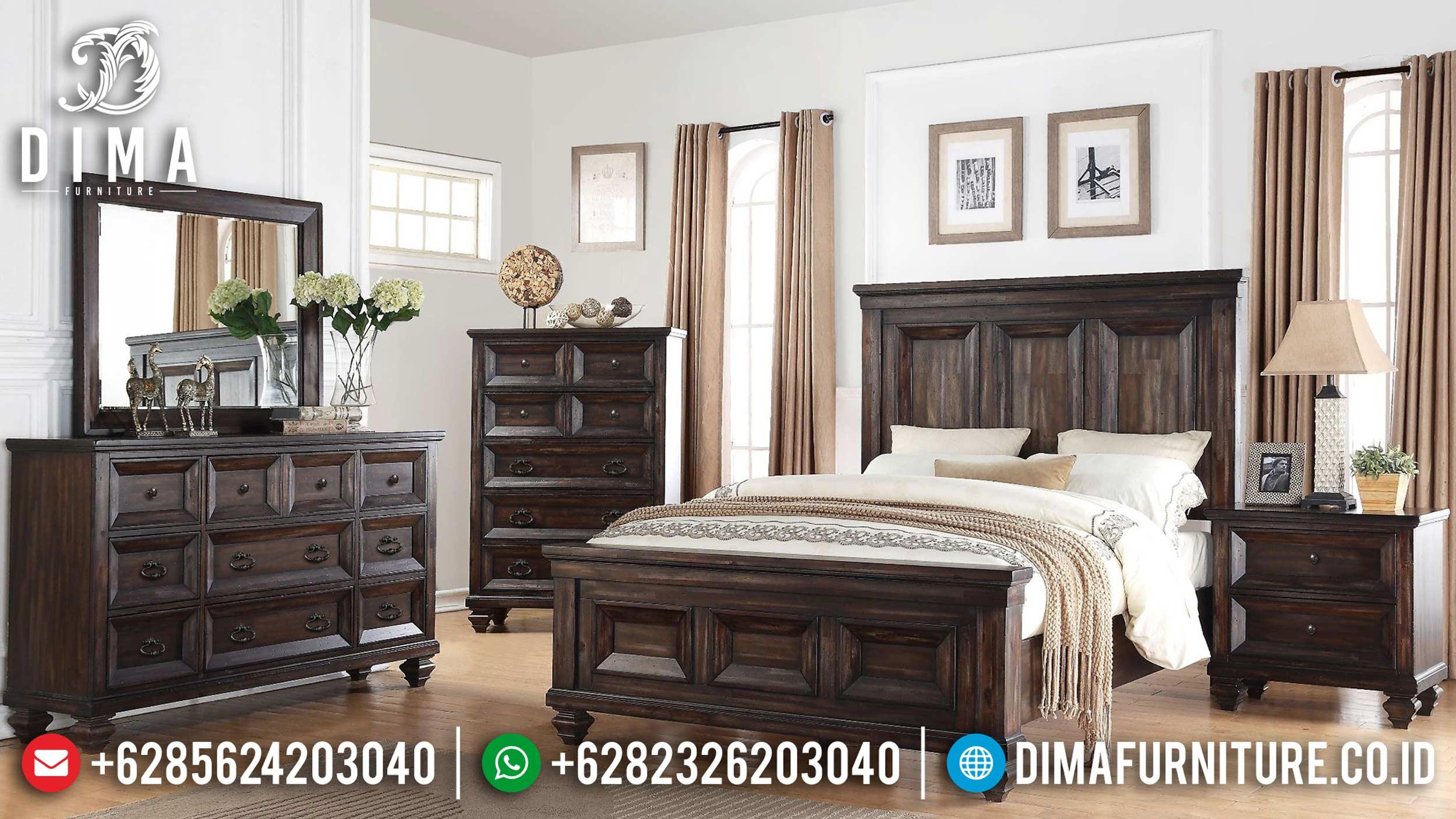 Tempat Tidur Minimalis Jepara, Kamar Set Minimalis Mewah, Dipan Jati Murah DF-0619