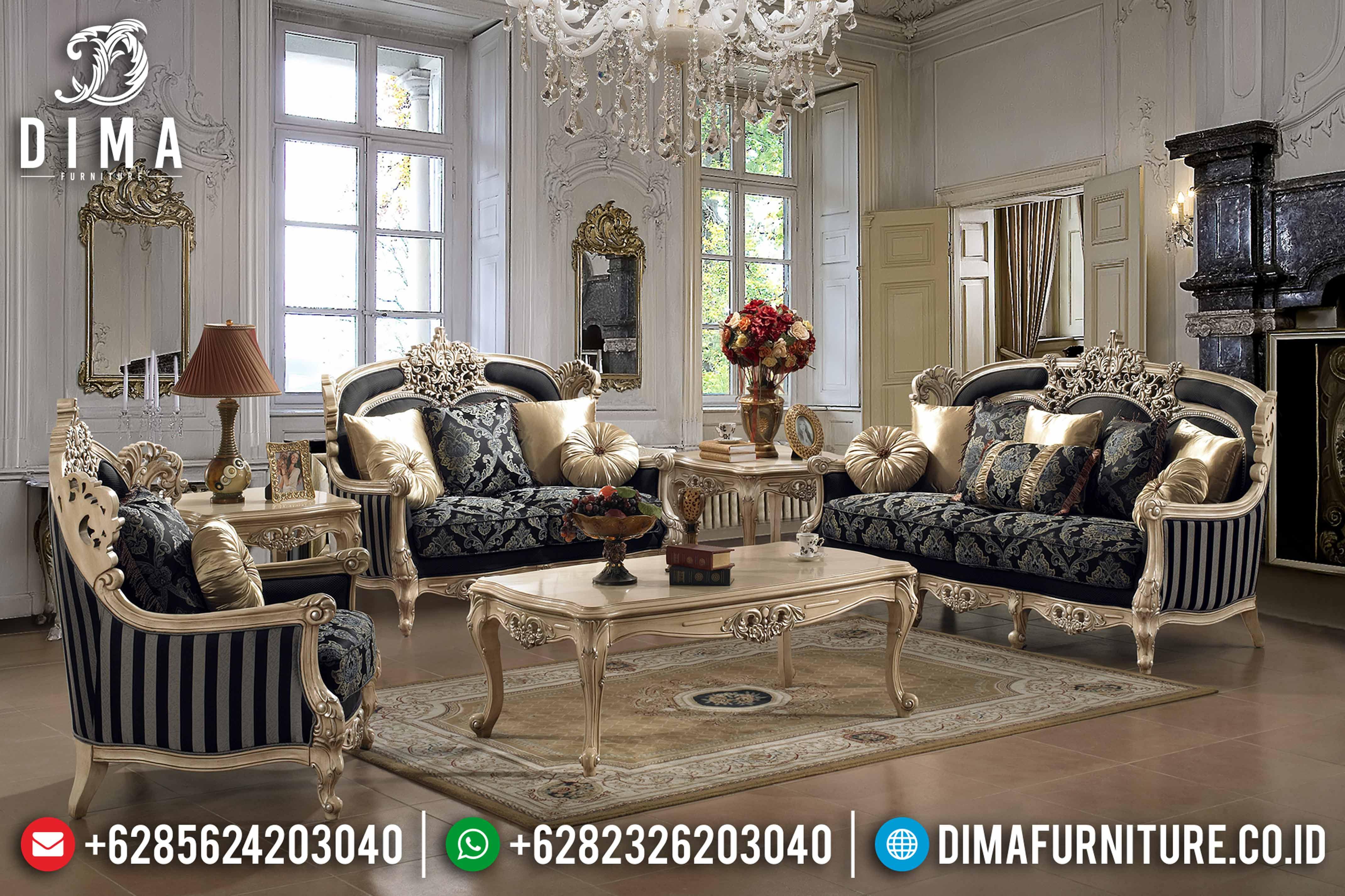 Mebel Klasik Terbaru Sofa Tamu Jepara Mewah Chamonix Duco DF-0642