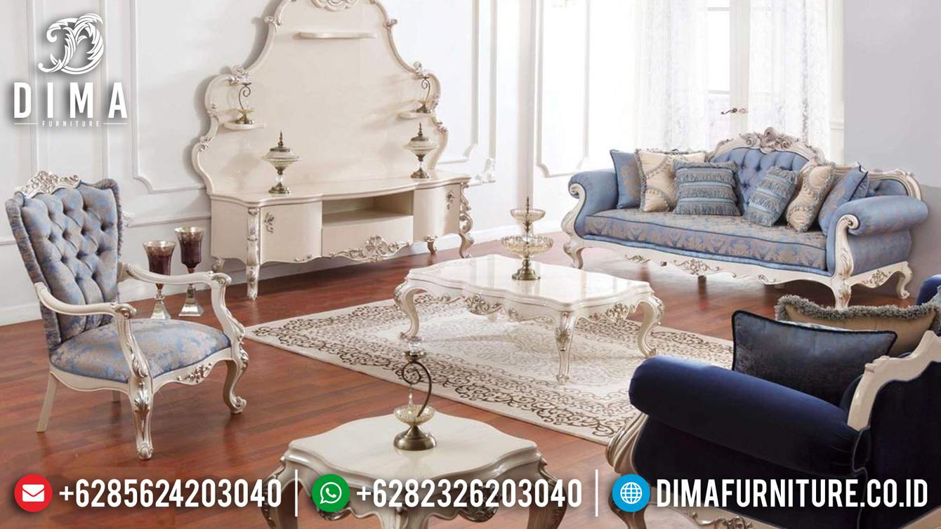 Set Sofa Tamu Jepara Mewah Osmanli Duco Putih Silver Terbaru DF-0645 Pilihan Produk 1