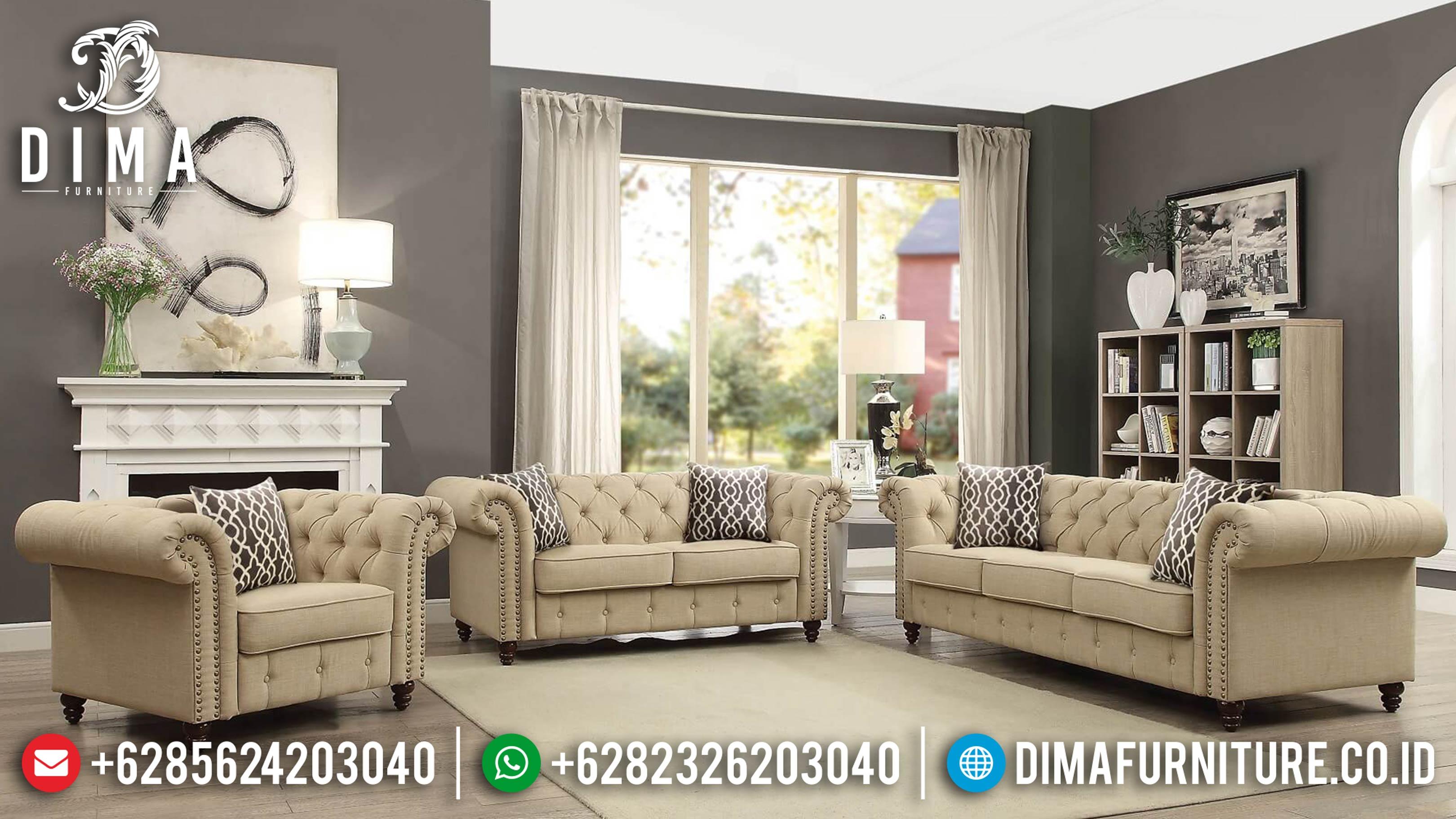 Jual Sofa Ruang Tamu, Sofa Tamu Mewah Jepara, Sofa Minimalis Chaster DF-0652