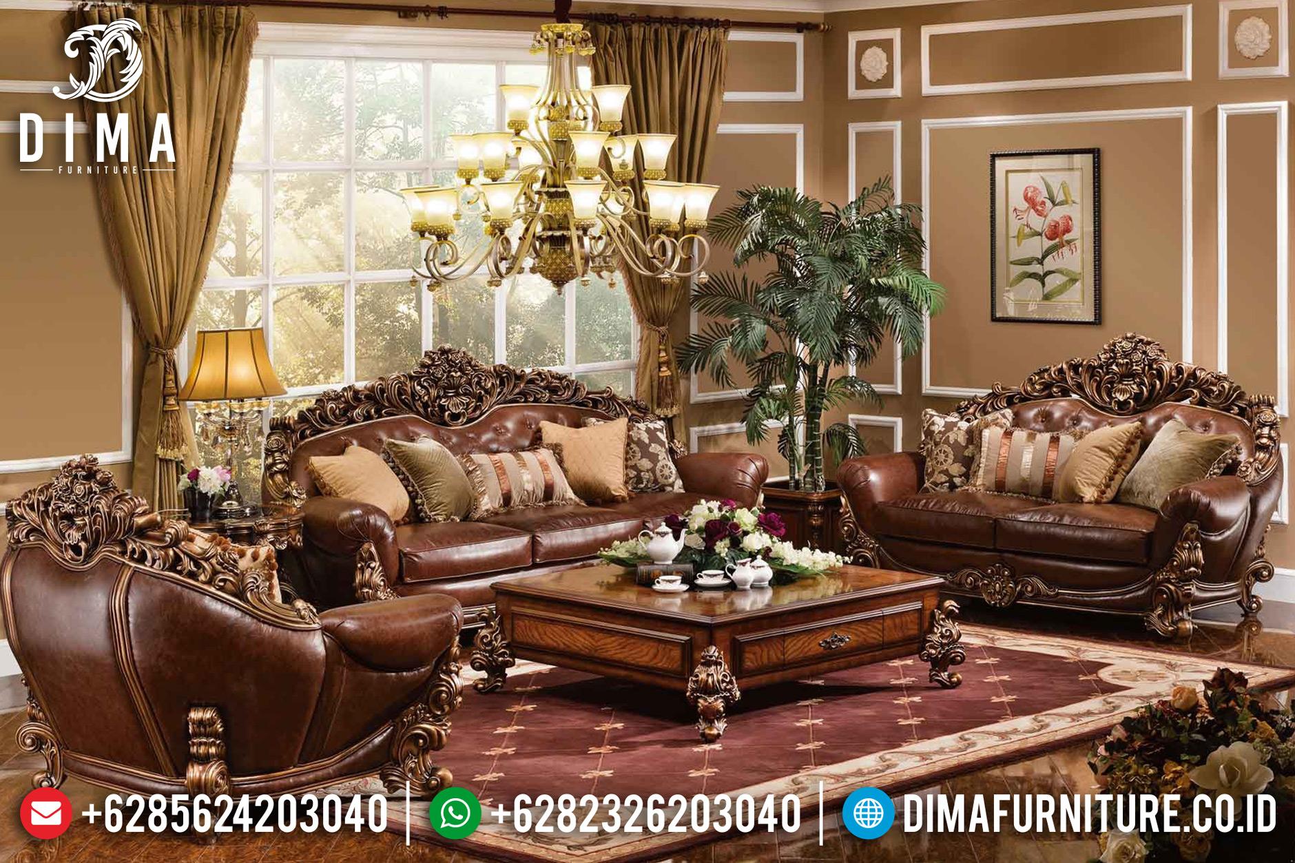 Sofa Tamu Jepara Mewah Full Ukiran Klasik Waldorf Terbaru DF-0647