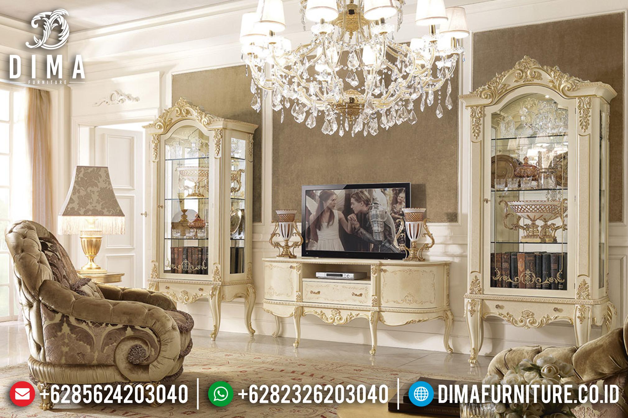 Bufet TV Jepara Terbaru, Lemari Hias Klasik, Bufet TV Mewah Duco DF-0673