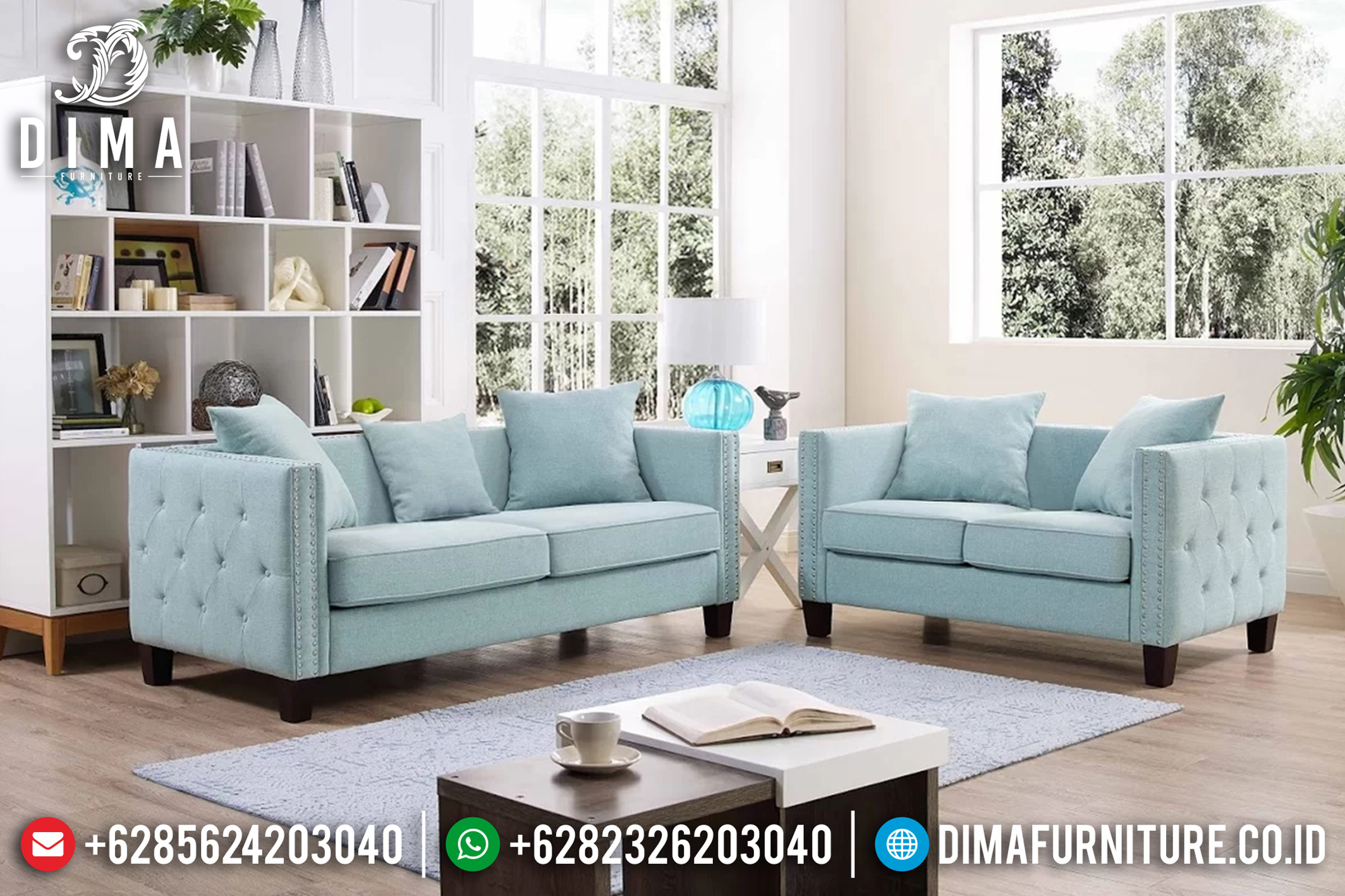 Furniture Indonesia, Sofa Tamu Jepara Minimalis, Model Sofa Terbaru DF-0683