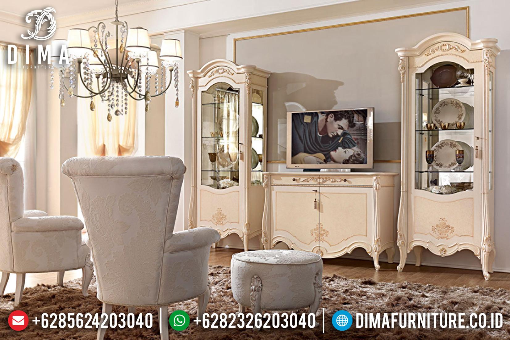 Jual 1 Set Bufet TV Mewah Jepara Model Terbaru Prestige Chamonix DF-0671