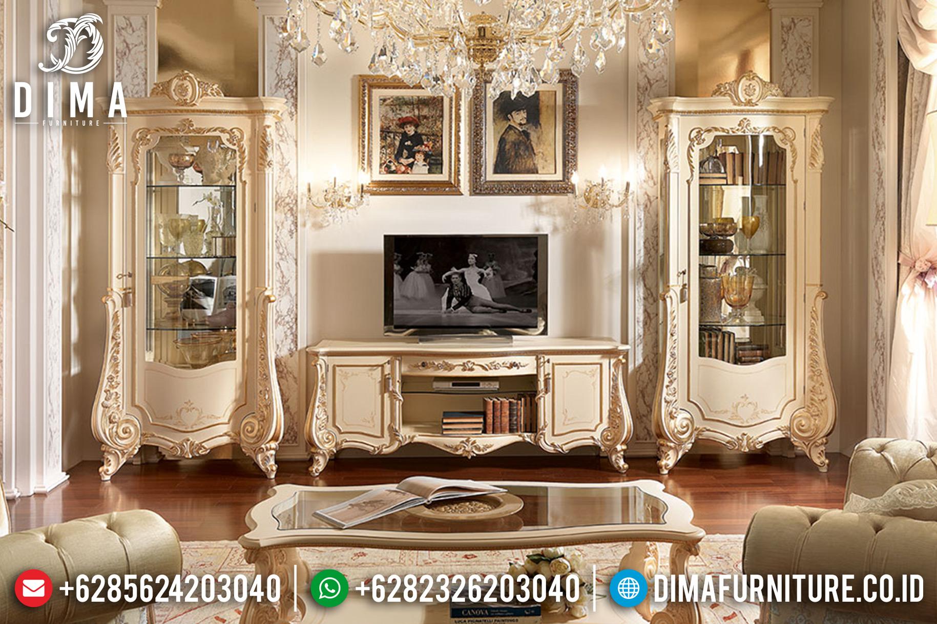 Jual Bufet TV Jepara, Bufet TV Minimalis Mewah, Lemari Hias Classic DF-0672