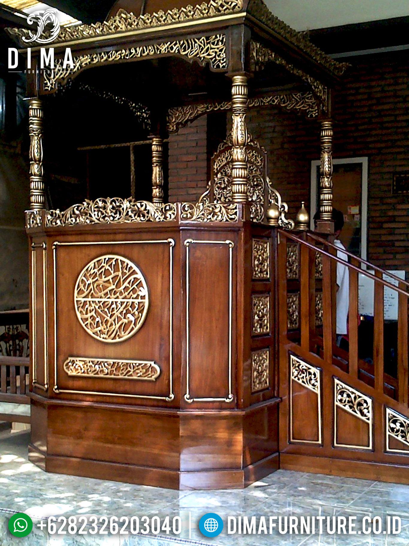 Jual Mimbar Jati Jepara, Mimbar Masjid Jati, Mebel Jepara Terbaru DF-0661