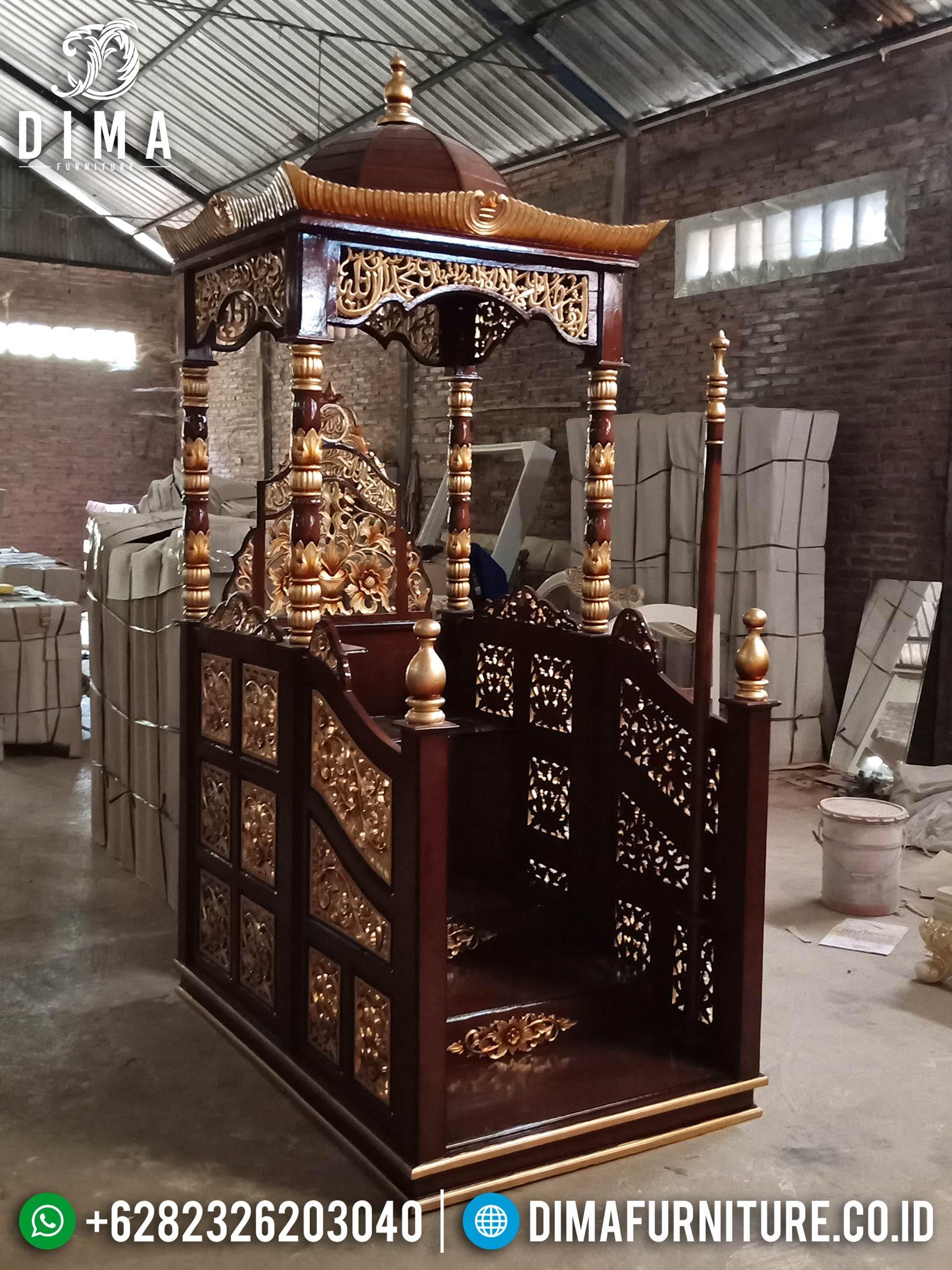 Jual Mimbar Masjid, Mimbar Jati Jepara, Mimbar Masjid Jati DF-0659