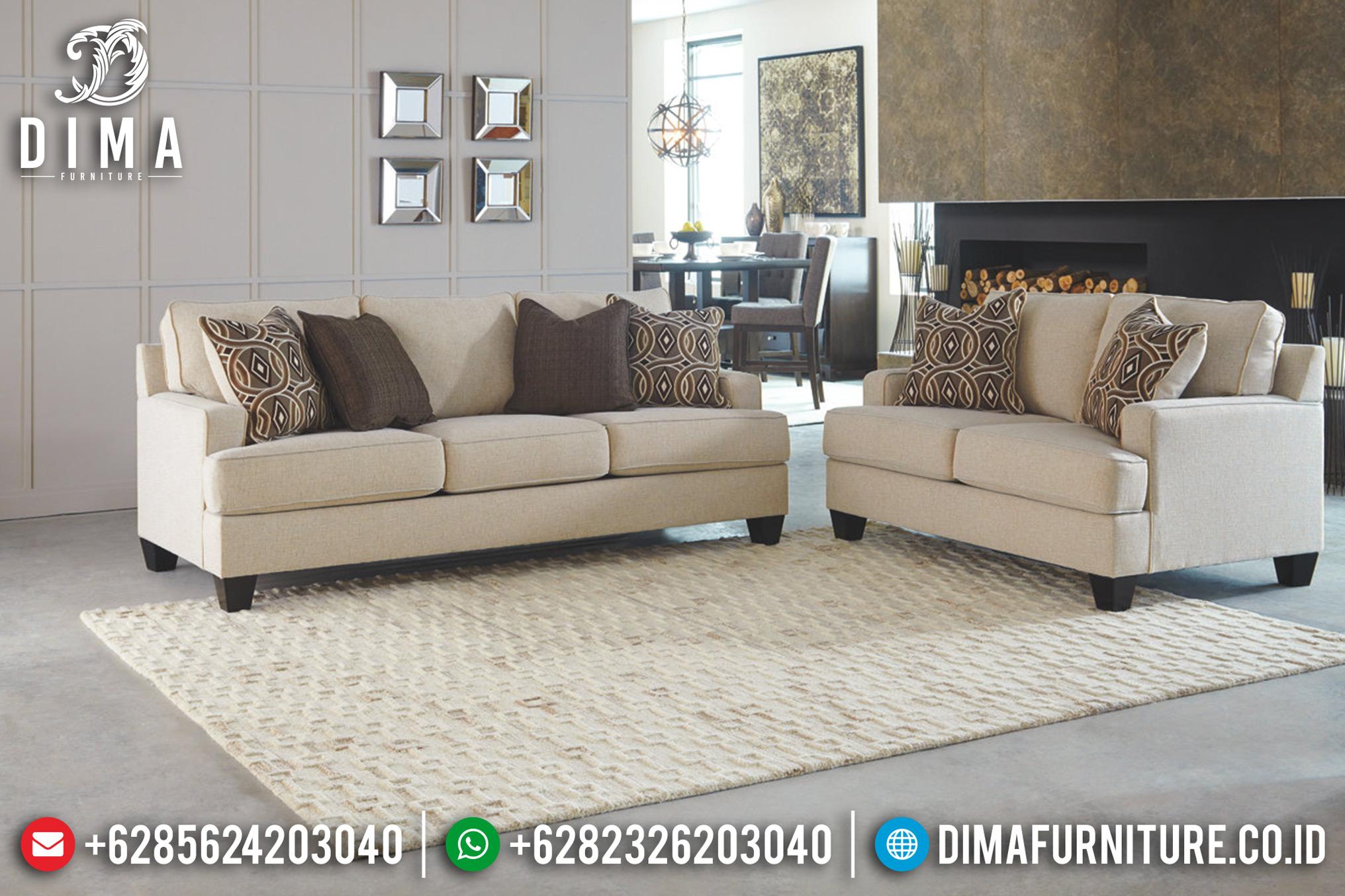 Jual Sofa Tamu Jepara Minimalis Fabric Canvas Model Terbaru Lonica DF-0669 Gambar 1