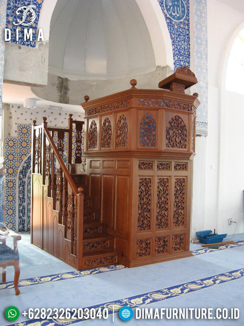 Mimbar Masjid Jati Jepara, Mimbar Jati Jepara, Mimbar Ceramah Jati DF-0662