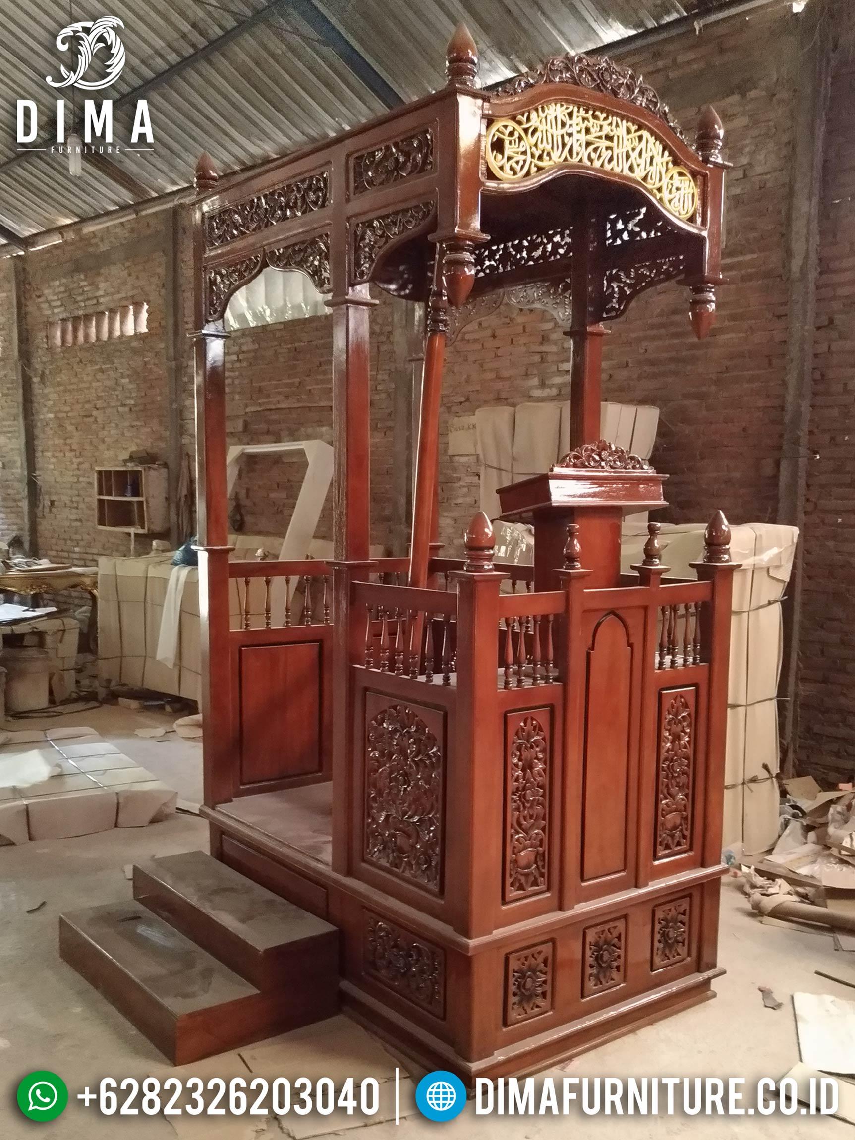 Mimbar Masjid Jati Jepara, Mimbar Murah Jati, Mimbar Jepara Terbaru DF-0660