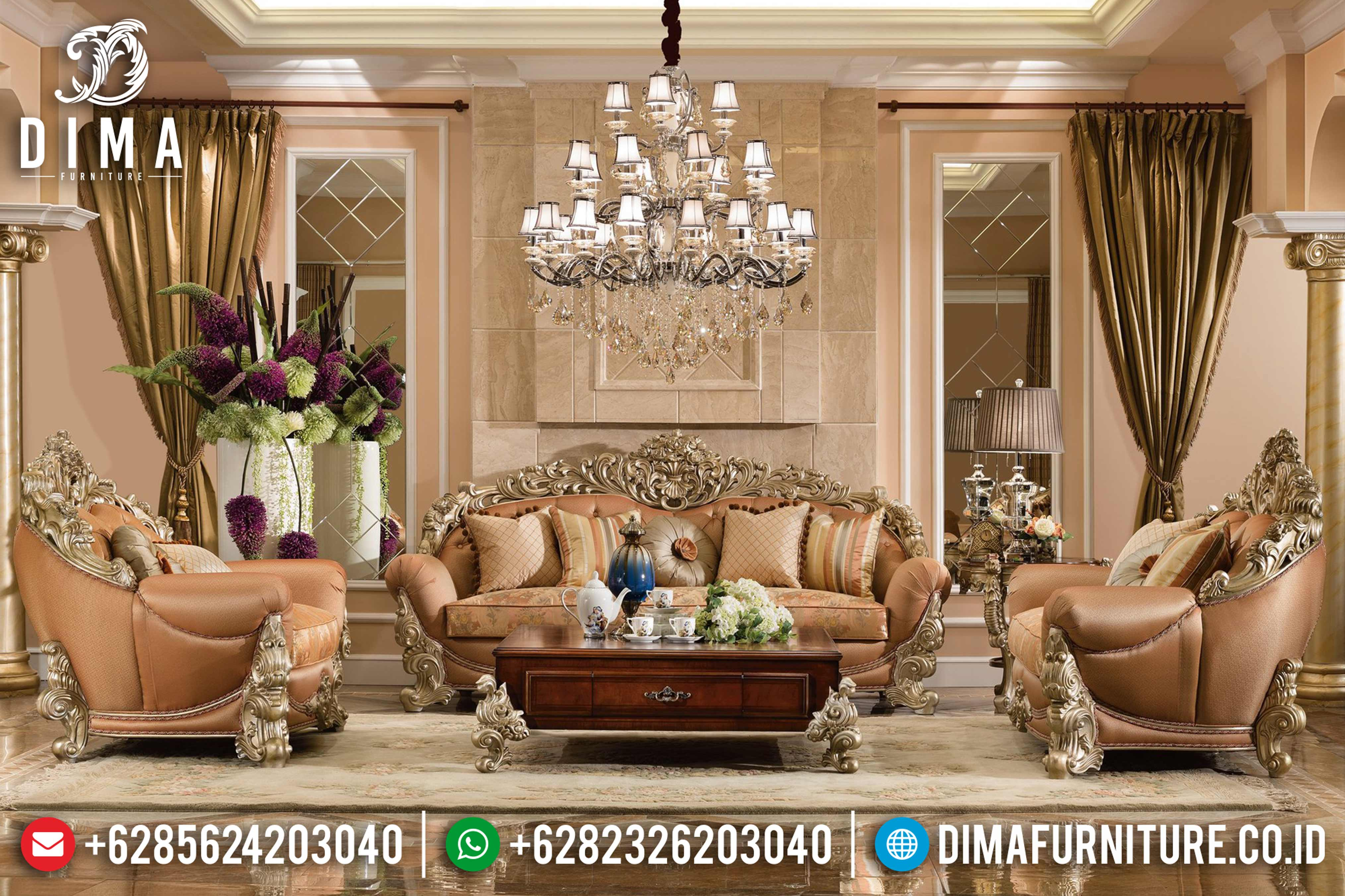 Royal Brunello Sofa Tamu Mewah Jepara Furniture Indonesia Model Terbaru DF-0686