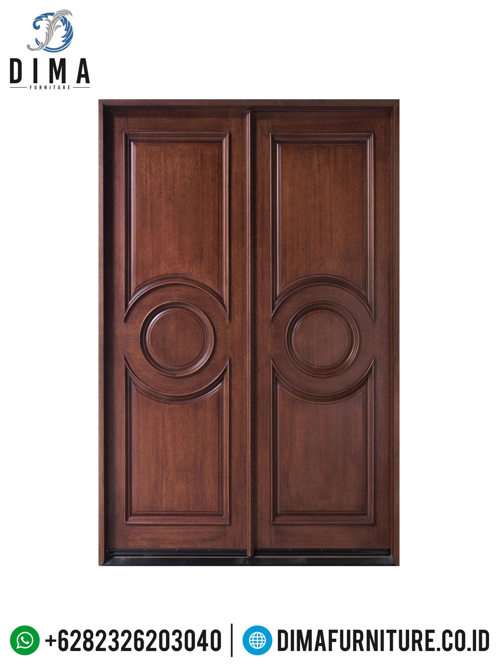Desain Pintu Utama, Pintu Jati Jepara, Pintu Rumah Minimalis Mewah DF-0701