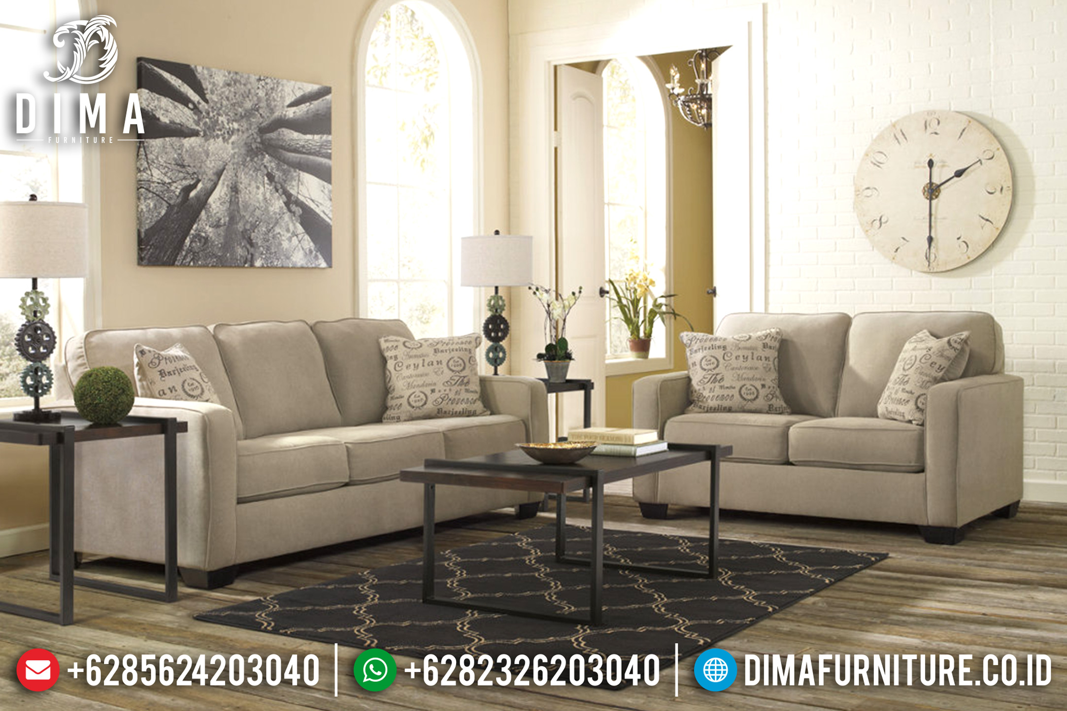 Furniture Indonesia Terbaru Sofa Tamu Minimalis Modern Canvas DF-0691