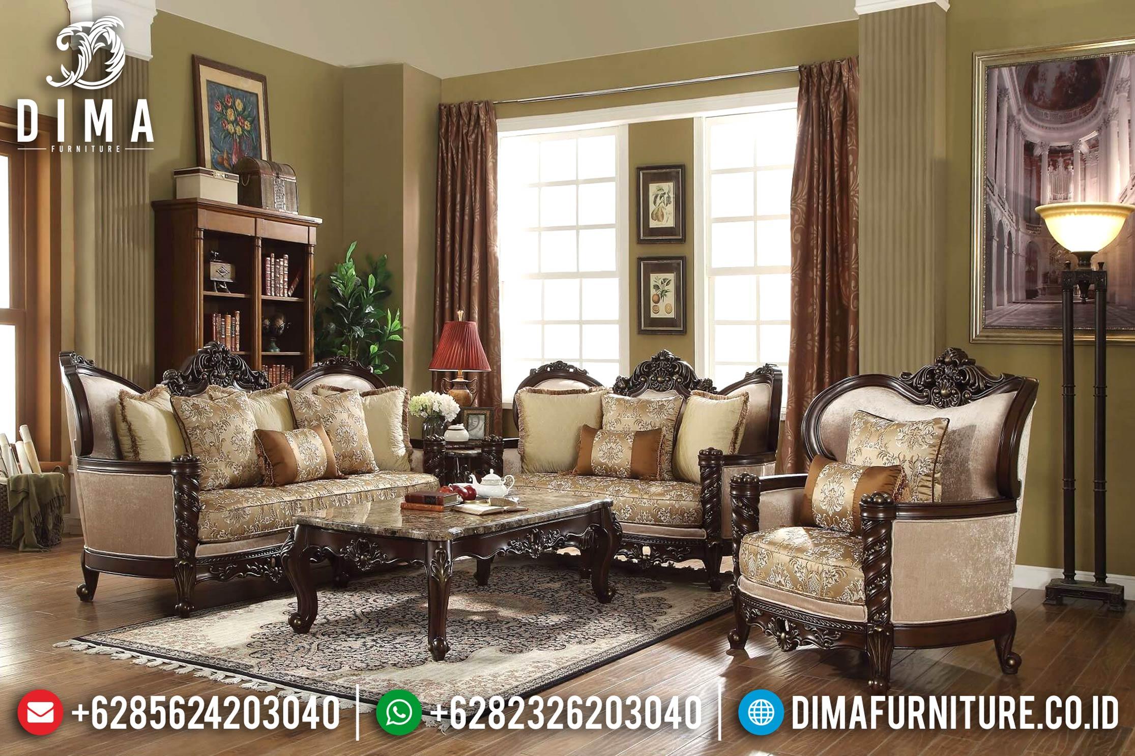 Kursi & Sofa Tamu Mewah Jepara Furniture Indonesia Classic Terbaru DF-0695
