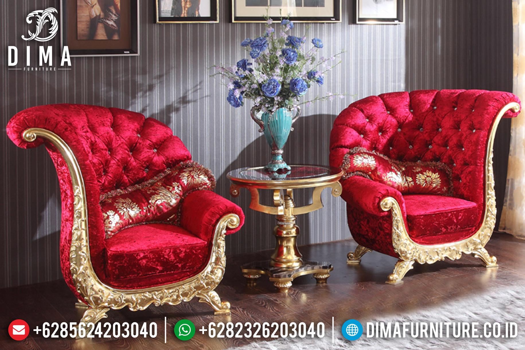 Kursi Teras Jepara Terbaru Model Sofa Tamu Mewah Kipas Silver Duco DF-0688 Gambar 1