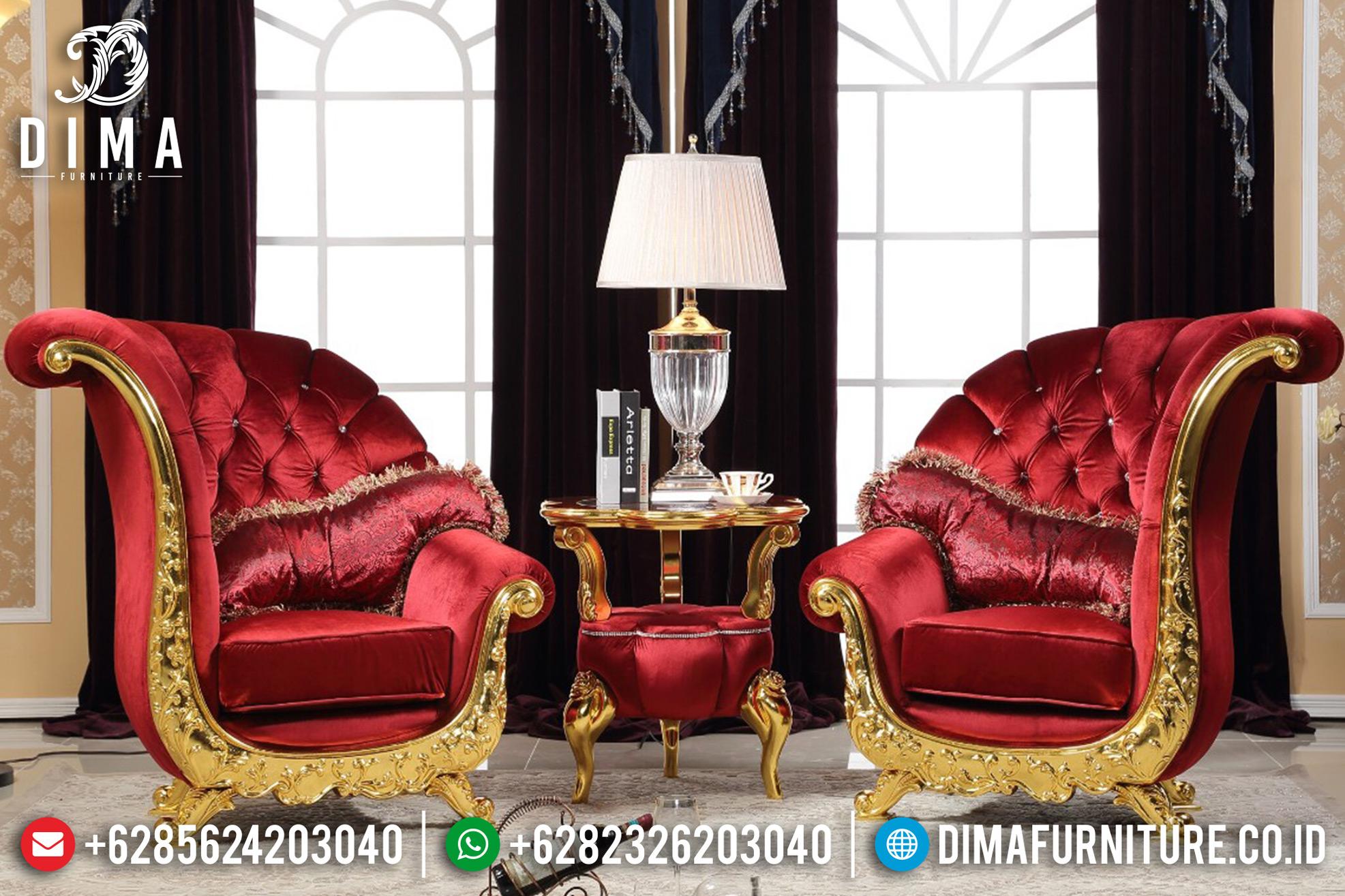 Kursi Teras Jepara Terbaru Model Sofa Tamu Mewah Kipas Silver Duco DF-0688 Gambar 2