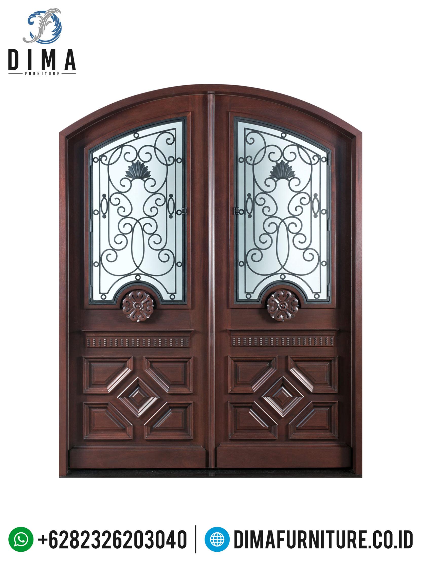 Pintu Rumah Jati, Pintu Utama Rumah Mewah, Kusen Pintu & Jendela Kayu DF-0699