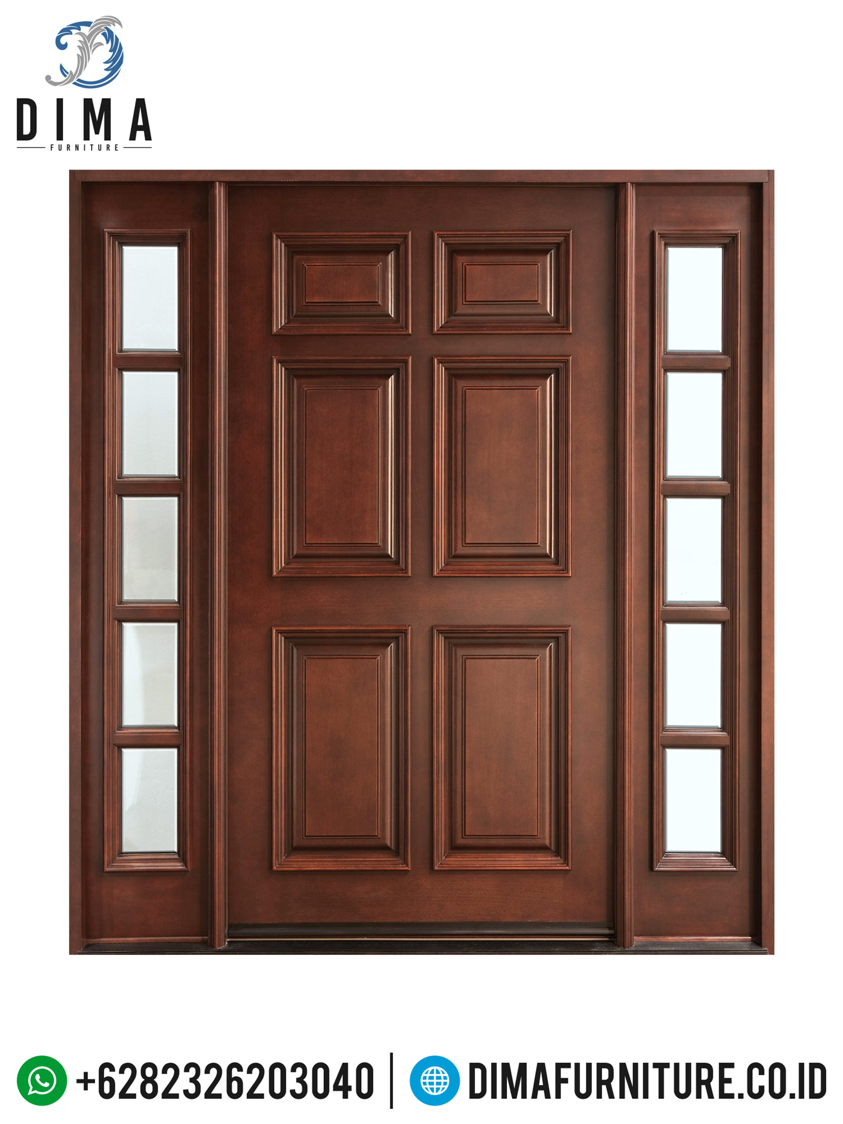 Pintu Rumah Minimalis, Kusen Pintu Rumah Utama, Pintu Jati Jepara DF-0700