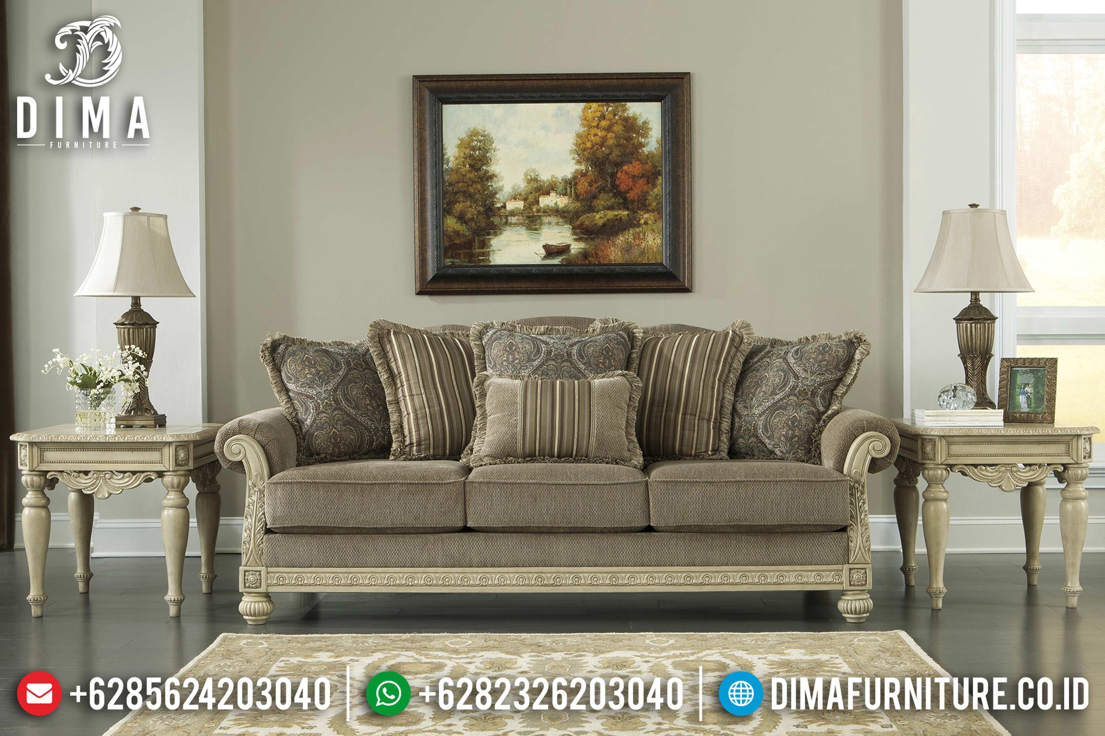 Terbaru Kursi Sofa Tamu Jepara Mewah Minimalis Harga Murah DF-0689 Gambar 1