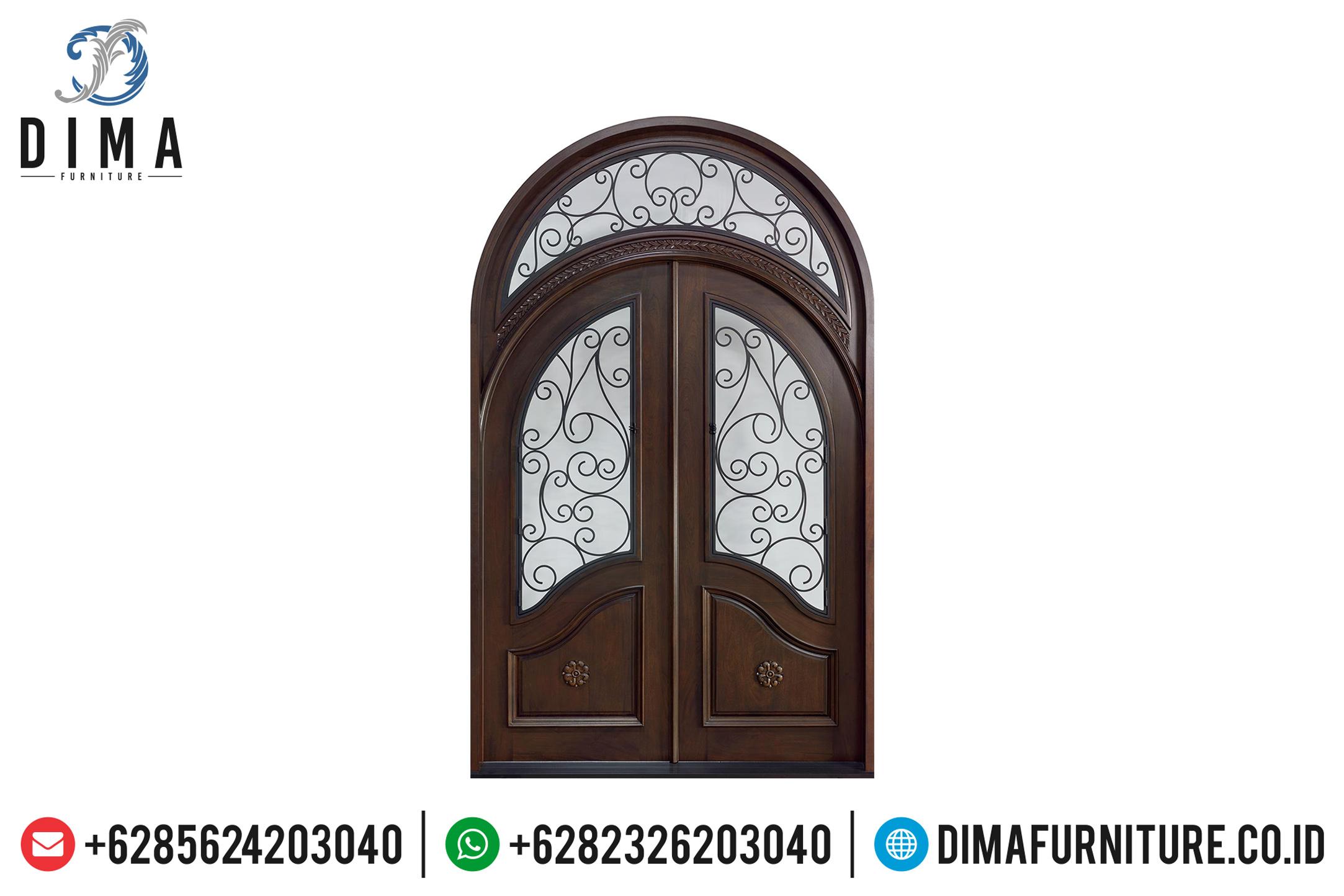 Desain Pintu Rumah Mewah Klasik Bahan Jati Jepara DF-0741