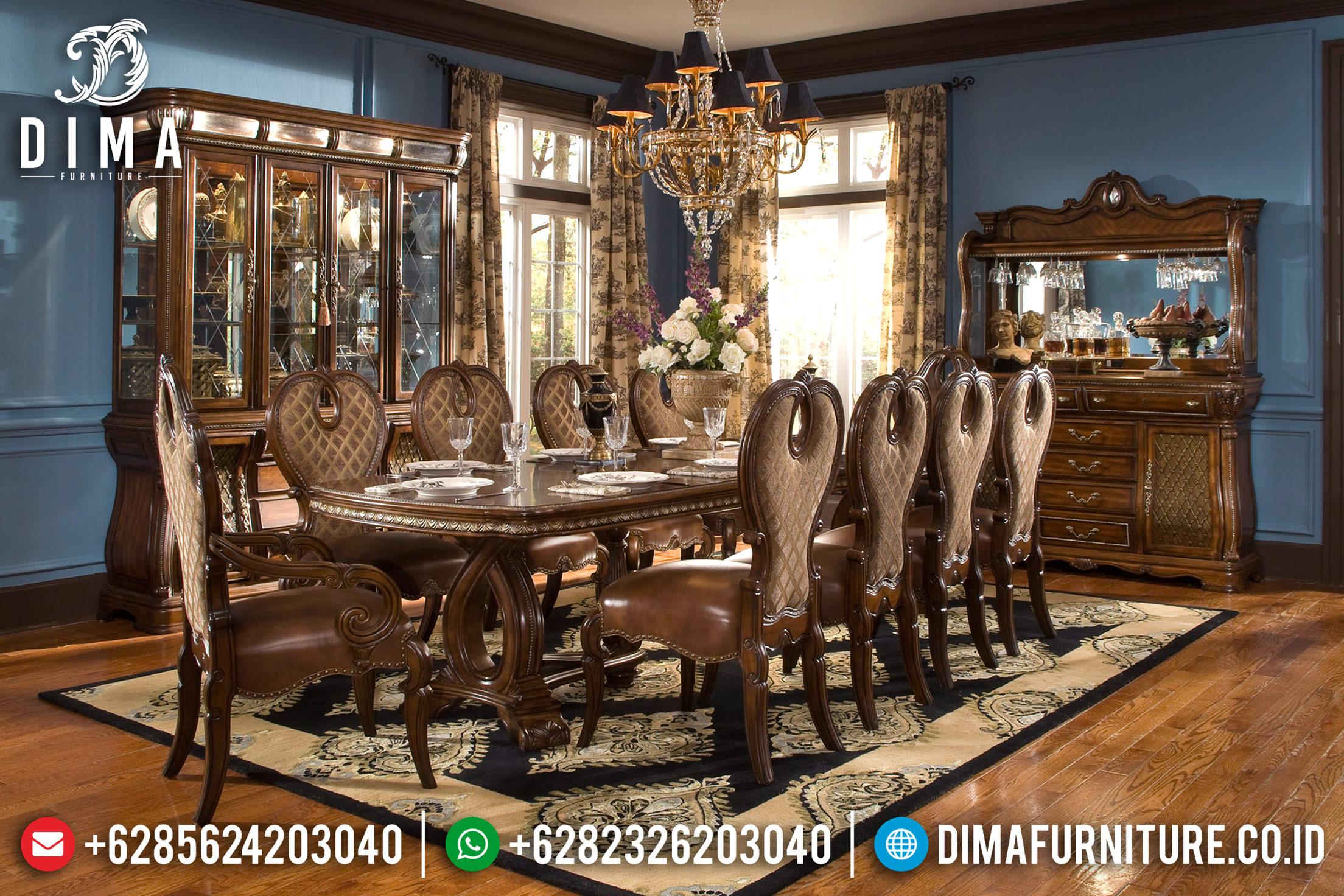 Furniture Indonesia Set Meja Makan Mewah Jepara Klasik Ariana DF-0731
