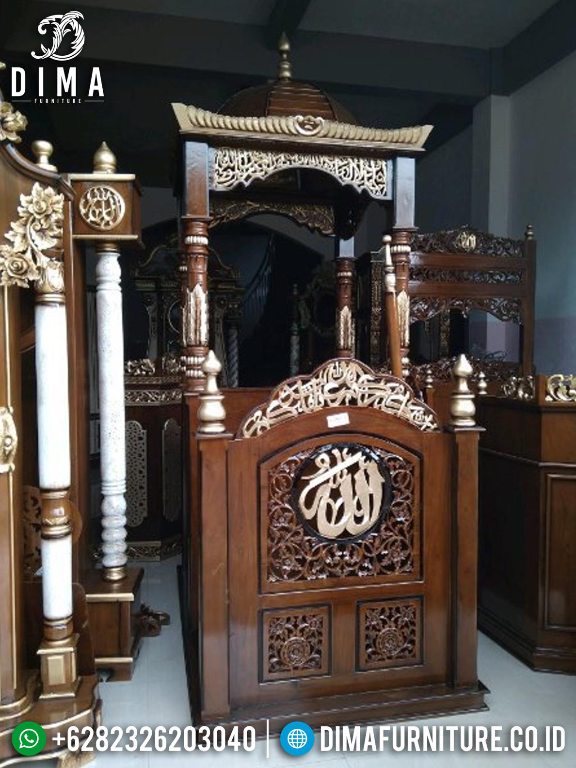 Jual Mimbar Masjid, Mimbar Jati Jepara Murah, Mimbar Masjid Jati TPK DF-0718