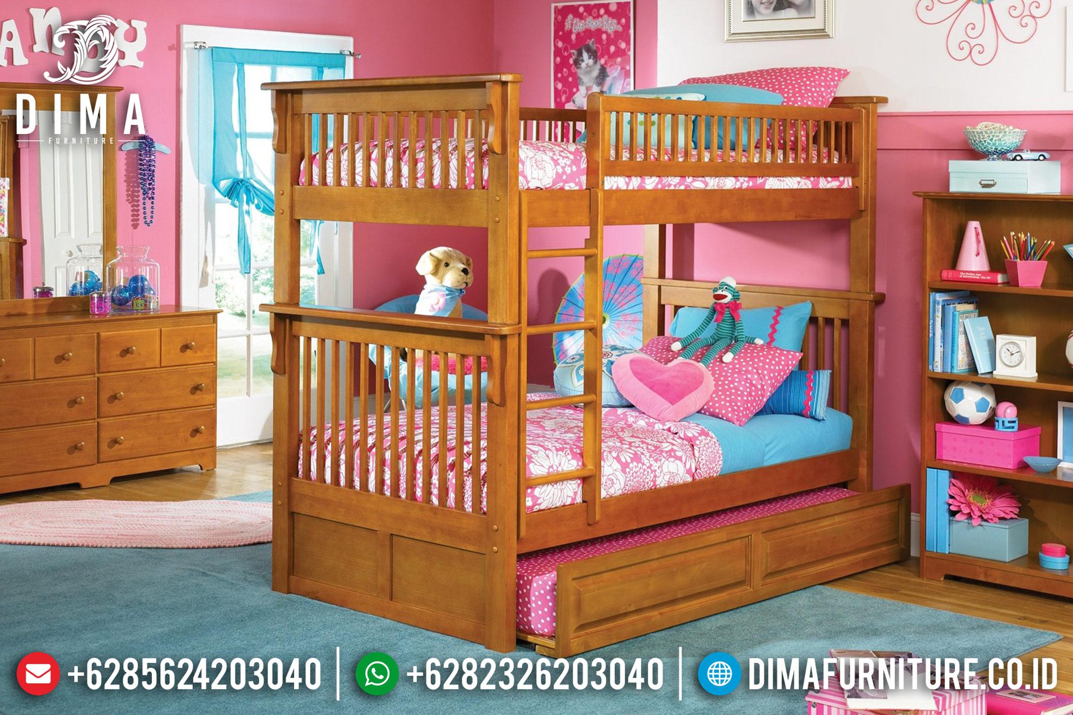Jual Set Kamar Tempat Tidur Anak Tingkat Jati Minimalis Andy DF-0746