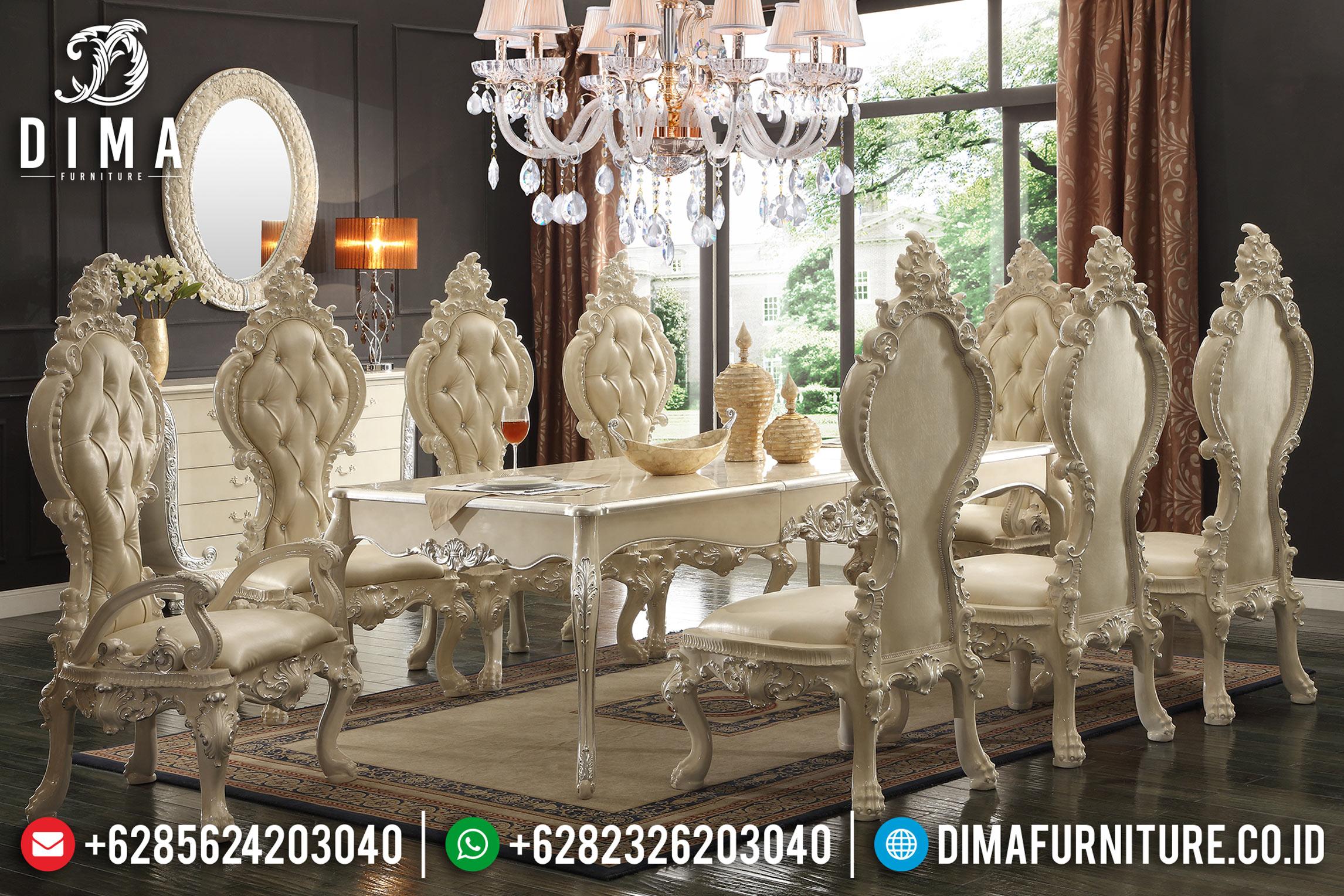 Klasik Furniture Indonesia, Meja Makan Jepara, Kursi Makan Mewah DF-0723