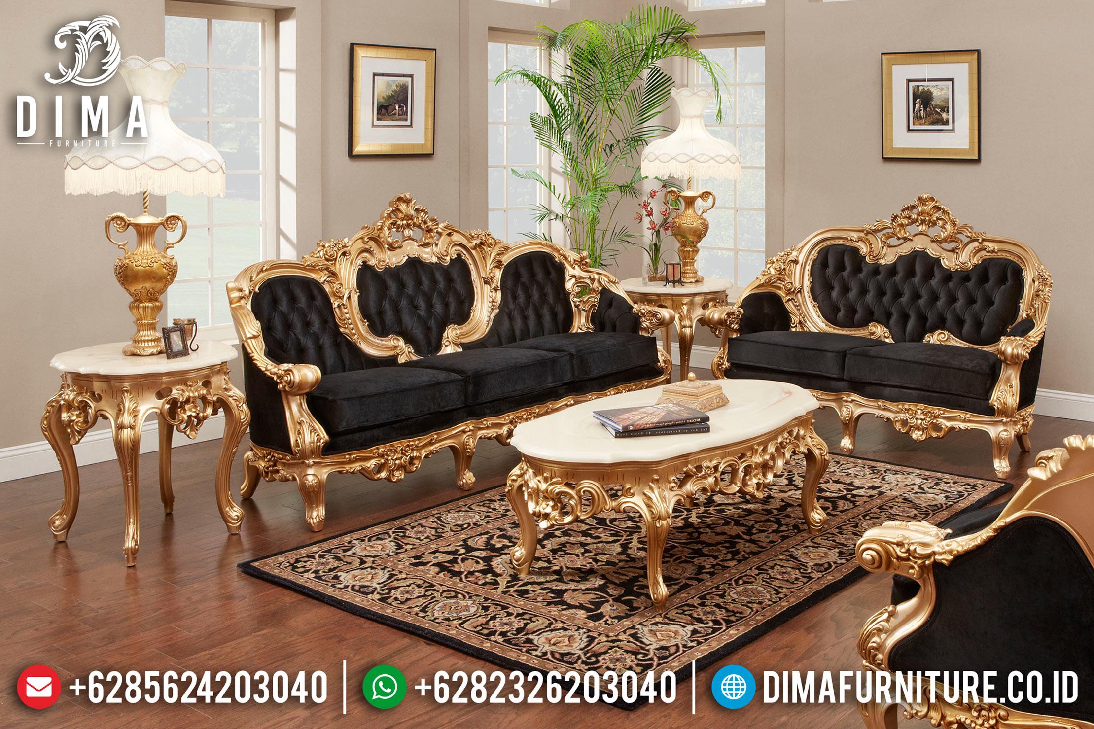 Kursi Tamu Klasik, Sofa Tamu Mewah, Desain Ruang Tamu Jepara DF-0711