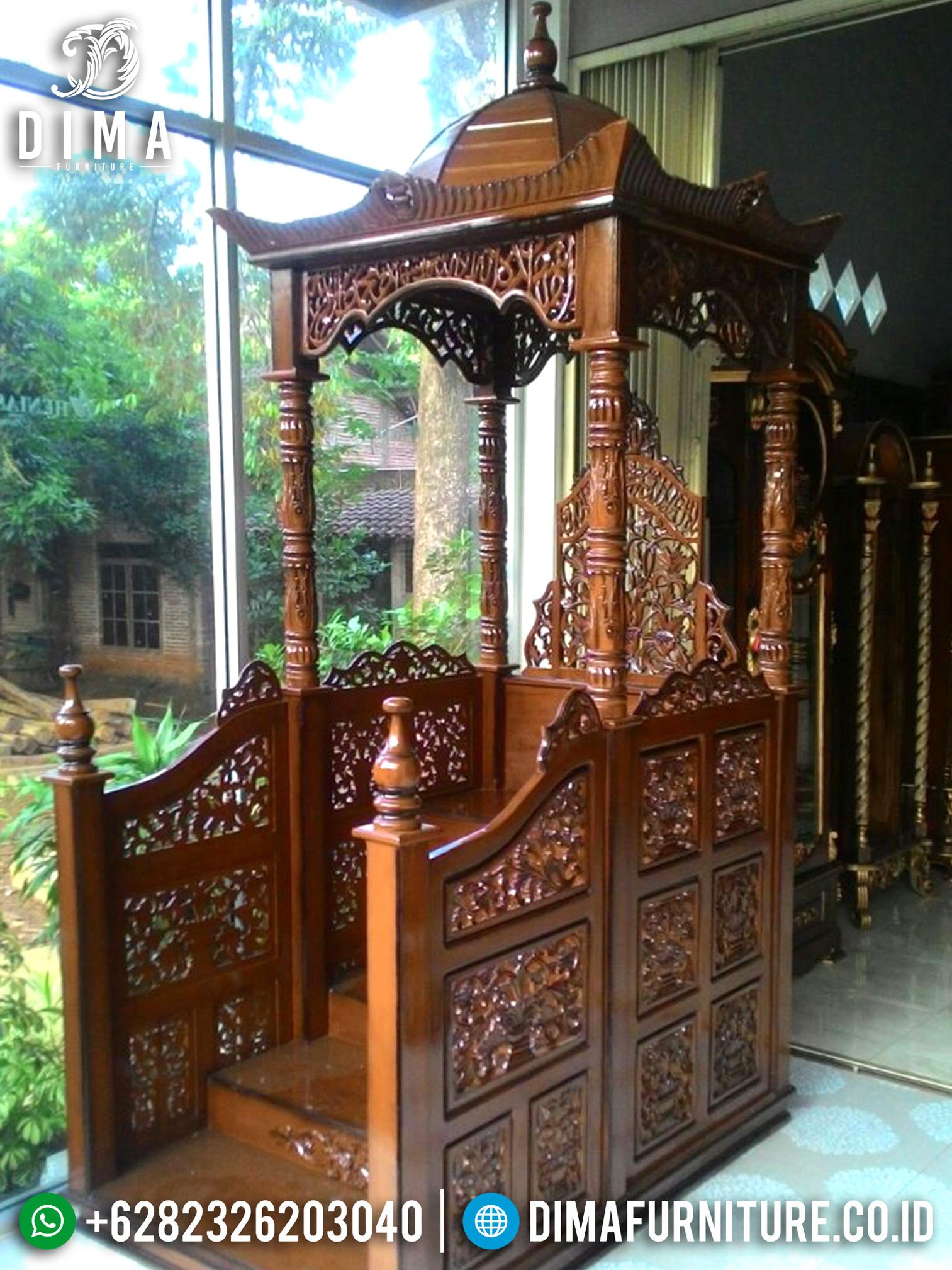 Mebel Jati Jepara, Mimbar Masjid Jati, Mimbar Jati Ukir Jepara DF-0716