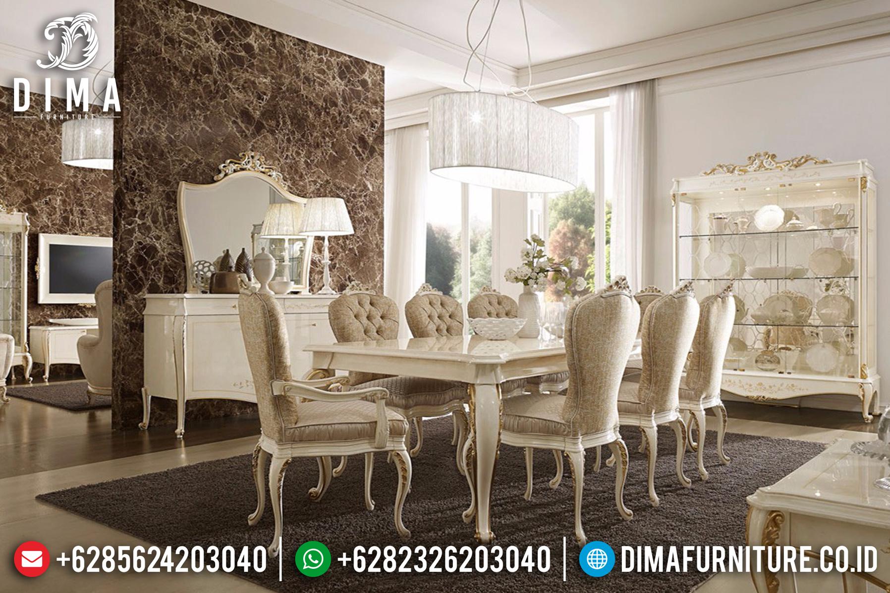Meja Ruang Makan Minimalis, Kursi Makan Mewah, Meja Makan Jepara DF-0728