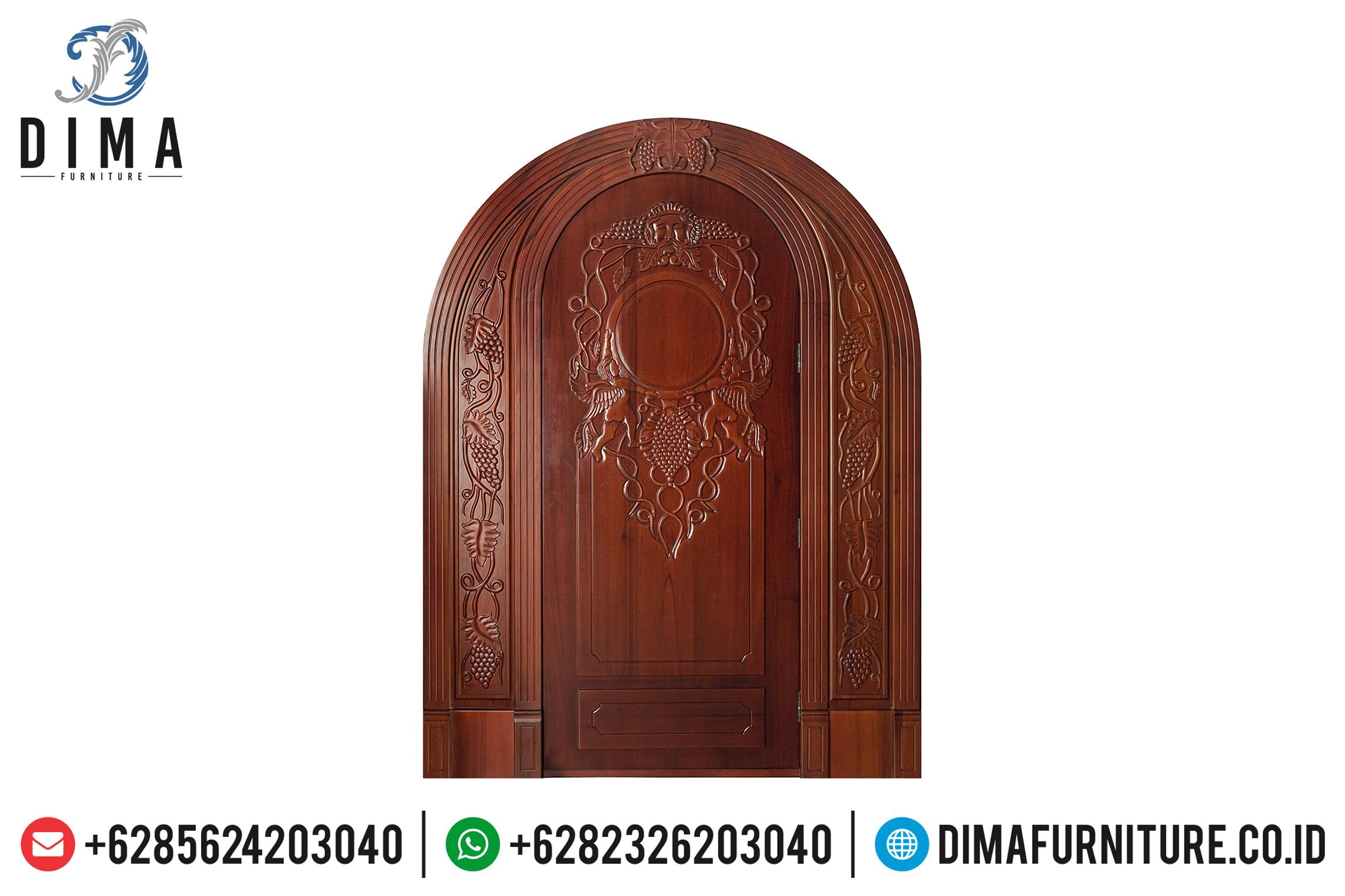 Pintu Rumah Mewah, Kusen Pintu Jati Jepara, Pintu Utama Jati DF-0739
