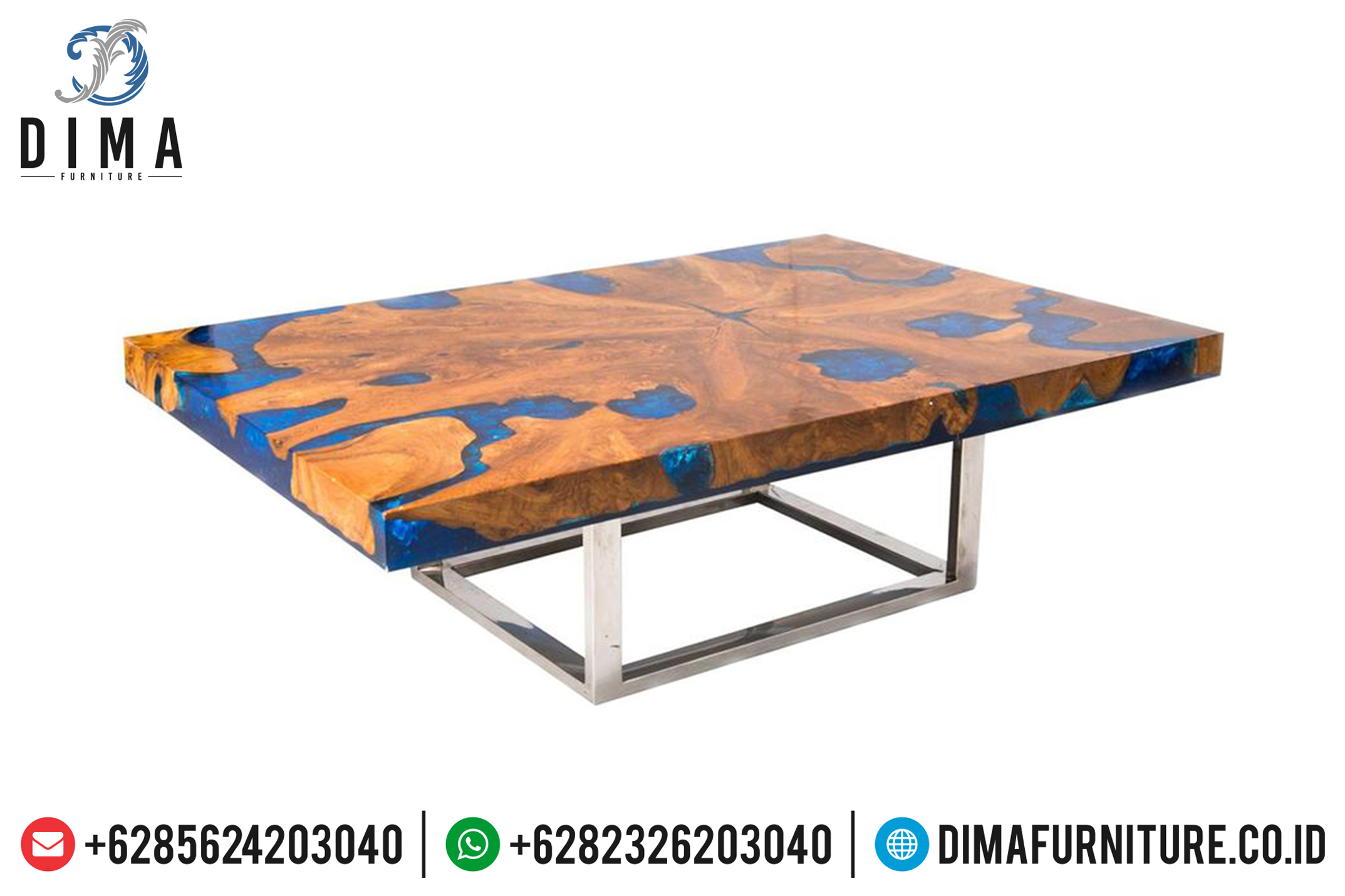 Resin Furniture Wholesale, Mebel Jepara, Meja Resin Minimalis Terbaru DF-0705