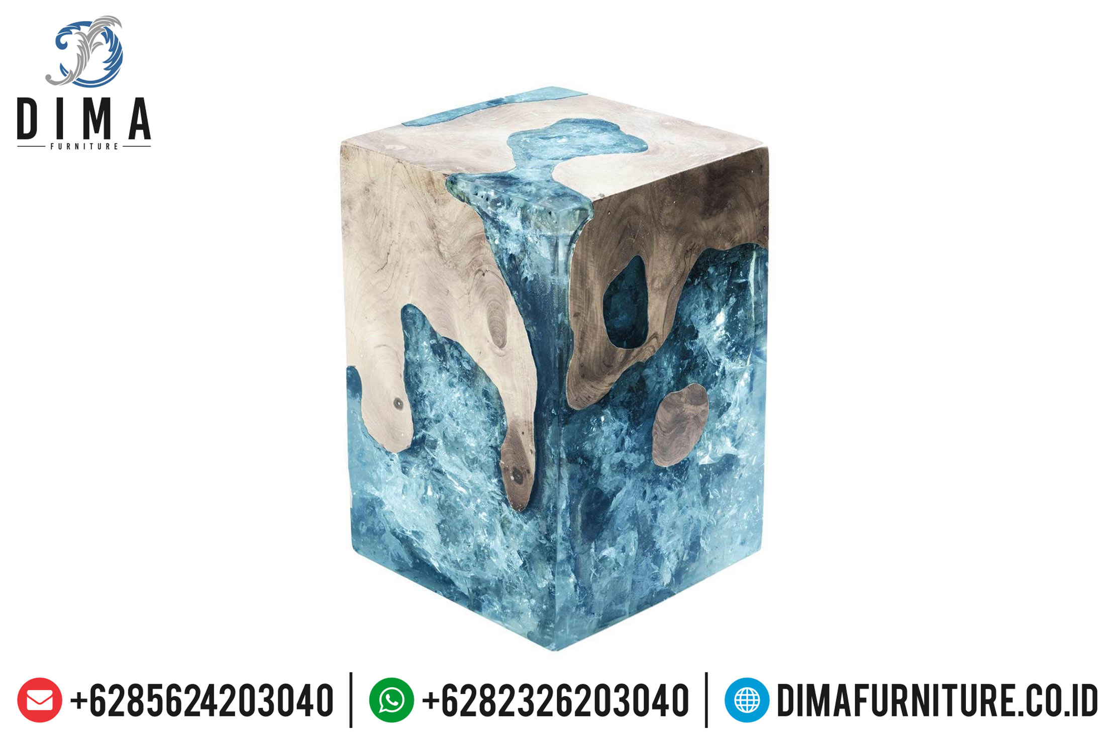 Stool Resin Terbaru, Meja Resin Minimalis, Resin Furniture Indonesia DF-0704