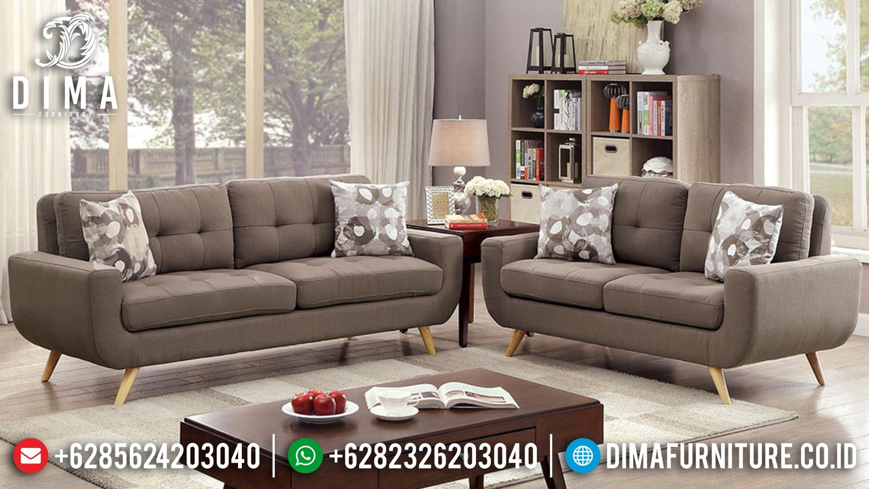 Terbaru Set Sofa Tamu Minimalis Jepara Sedori Fabric Mewah DF-0747