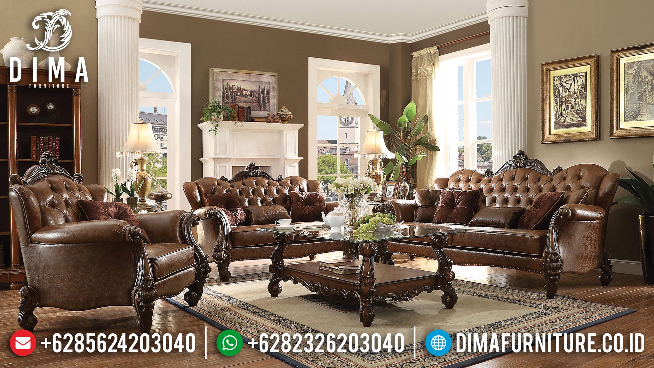 Set Sofa Tamu Jepara Mewah Kualitas Export Victorian Ukiran Klasik DF-0761