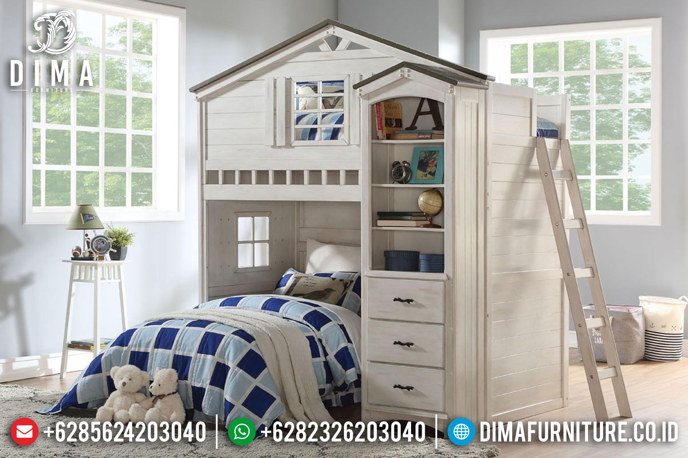 Tempat Tidur Minimalis Jepara, Tempat Tidur Tingkat, Tempat Tidur Anak Murah DF-0764