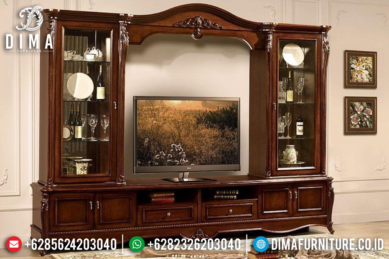 Bufet TV Jepara Mewah, Lemari Hias Jati, Meja TV Mewah Jati DF-0780