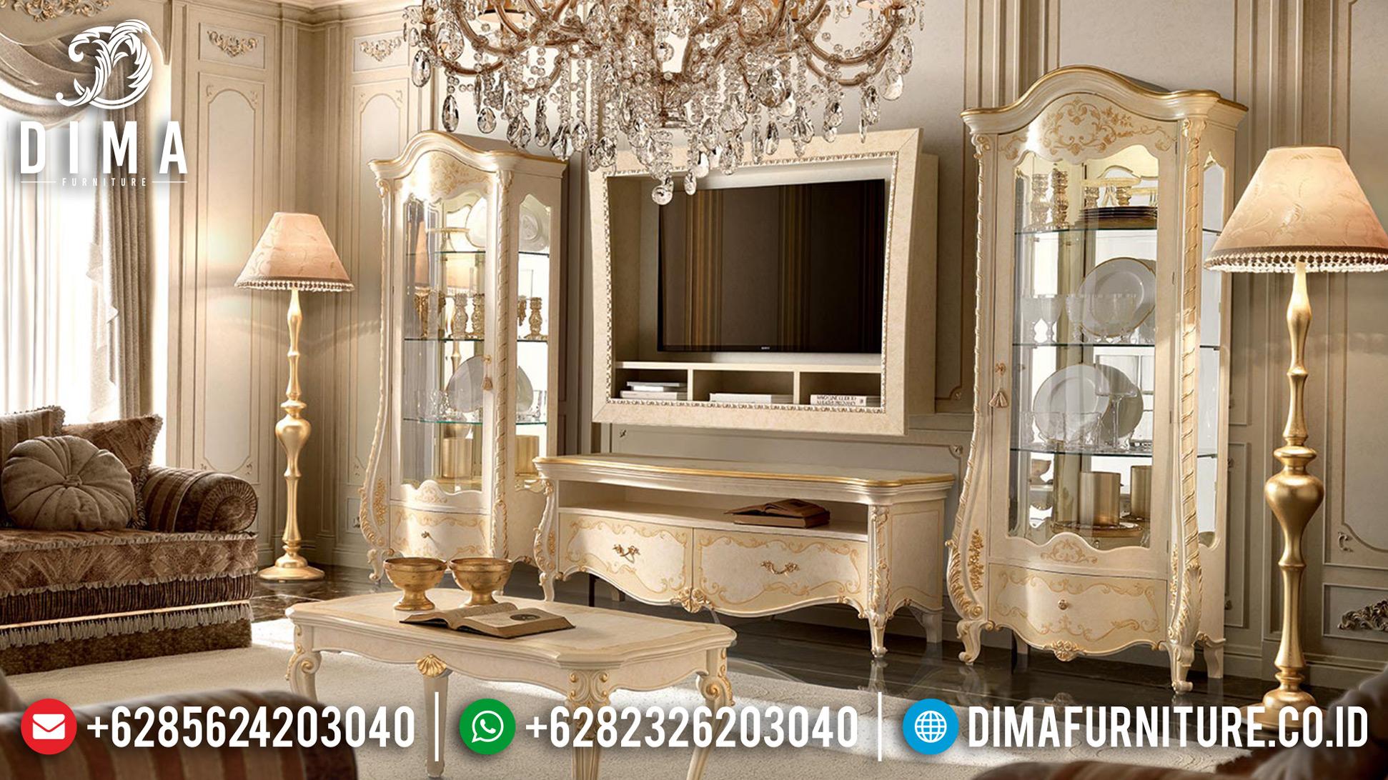 Jual Meja Bufet TV Mewah Jepara Model Klasik 2019 Terbaru Portofino DF-0777