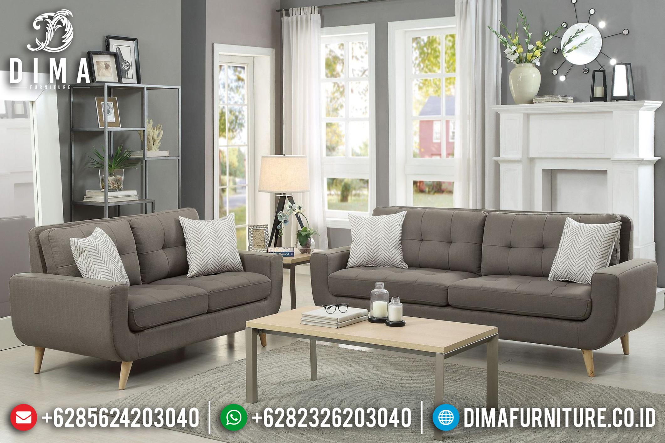 Jual Set Sofa Tamu Minimalis Jepara Model Terbaru Gray Skin DF-0767