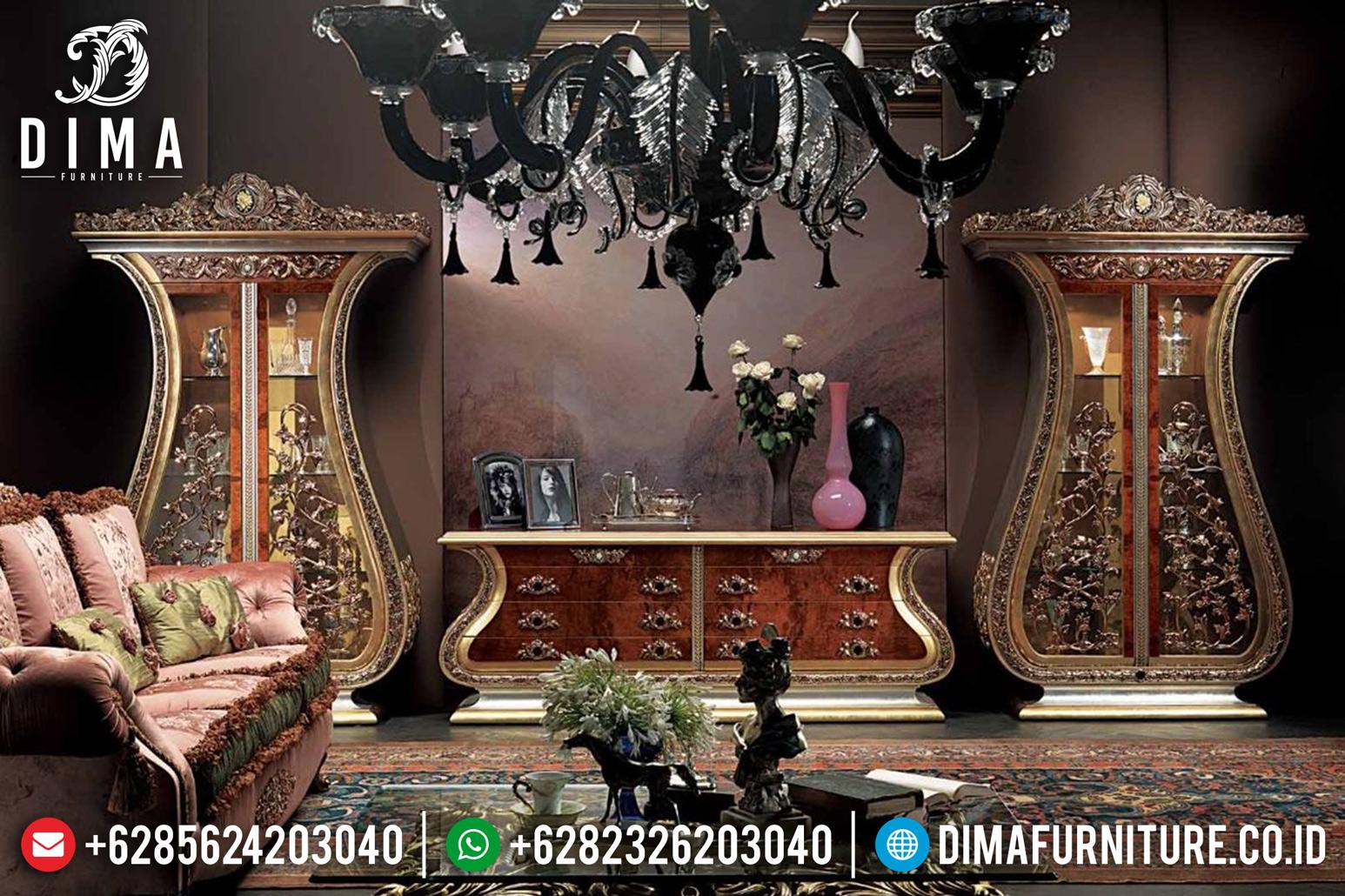 Lemari Hias Bufet TV Mewah, Bufet TV Jepara, Lemari Hias Klasik Jati DF-0781