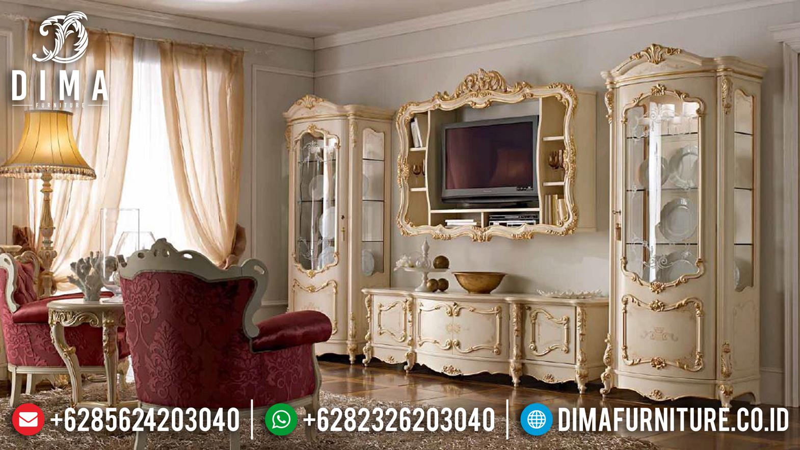 Mebel Jepara Terbaru Set Bufet TV Mewah Klasik Gostinaya Royal DF-0773