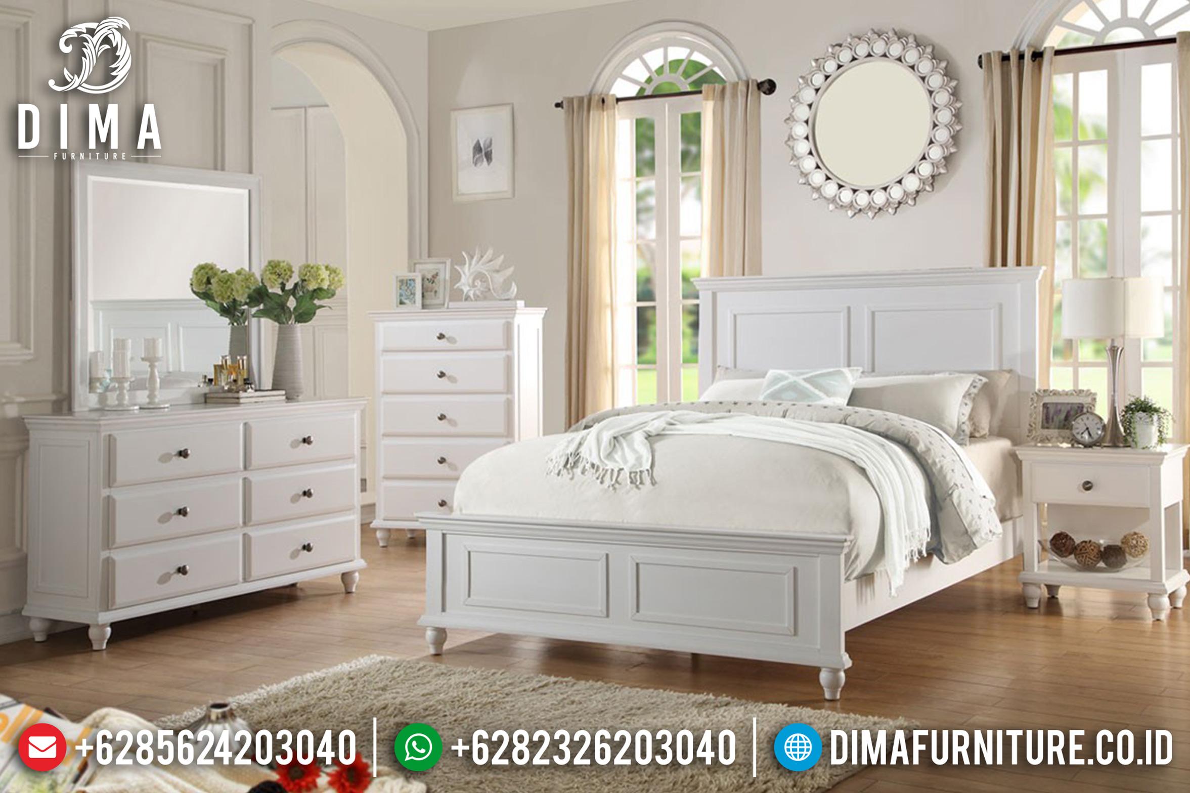 Ranjang Duco Putih Tempat Tidur Jepara Minimalis Karina Terbaru DF-0787