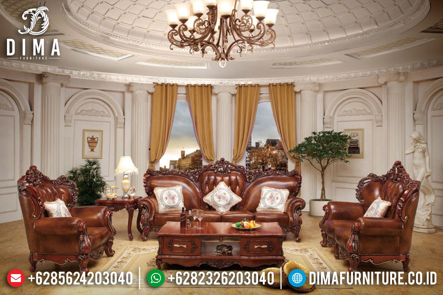 Terbaru! Set Sofa Tamu Jepara Mewah Klasik Eropa Ukiran Jati DF-0784