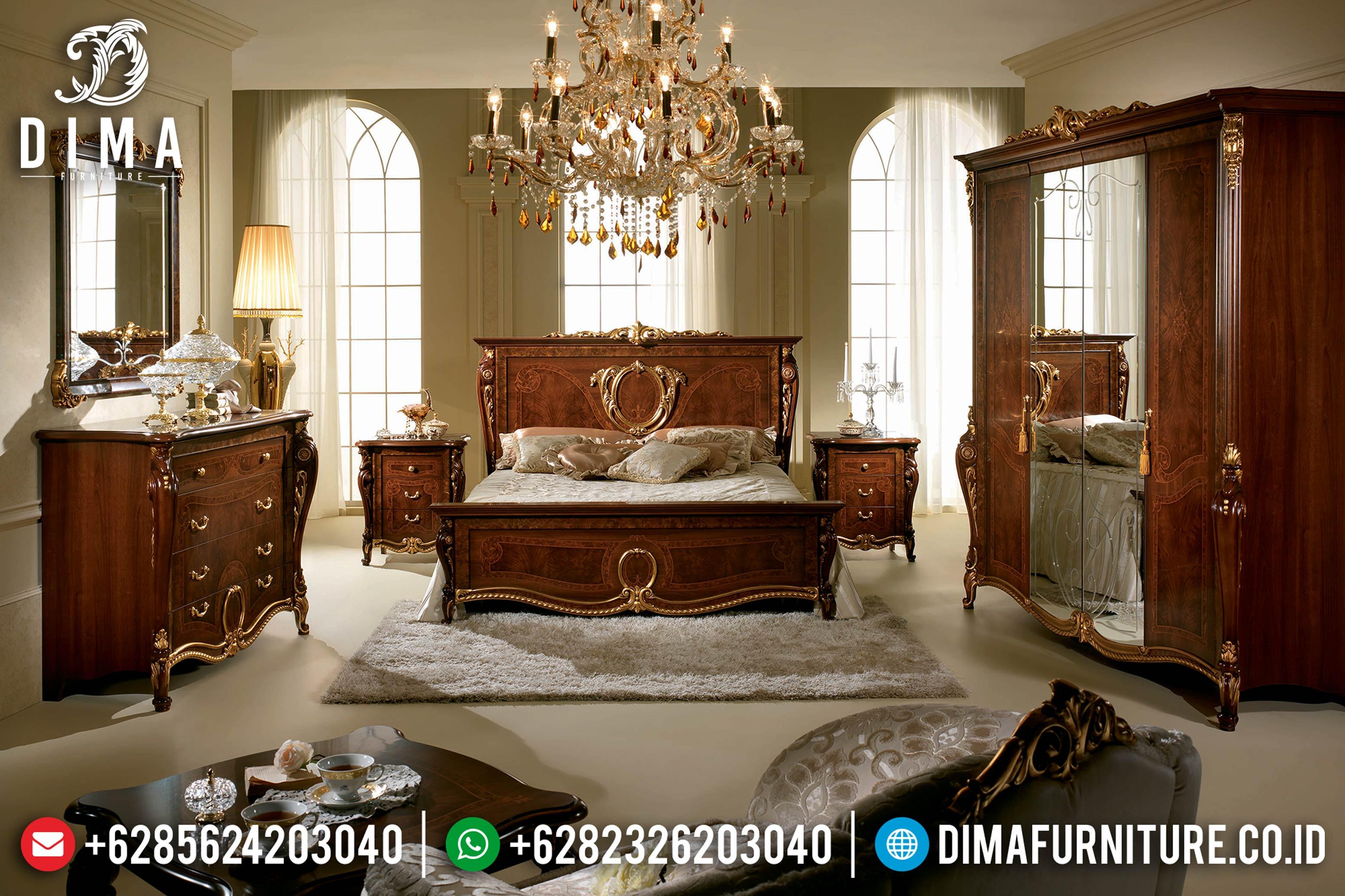 Terlaris!!! Tempat Tidur Jepara Jati Terbaru Donatello Natural DF-0789