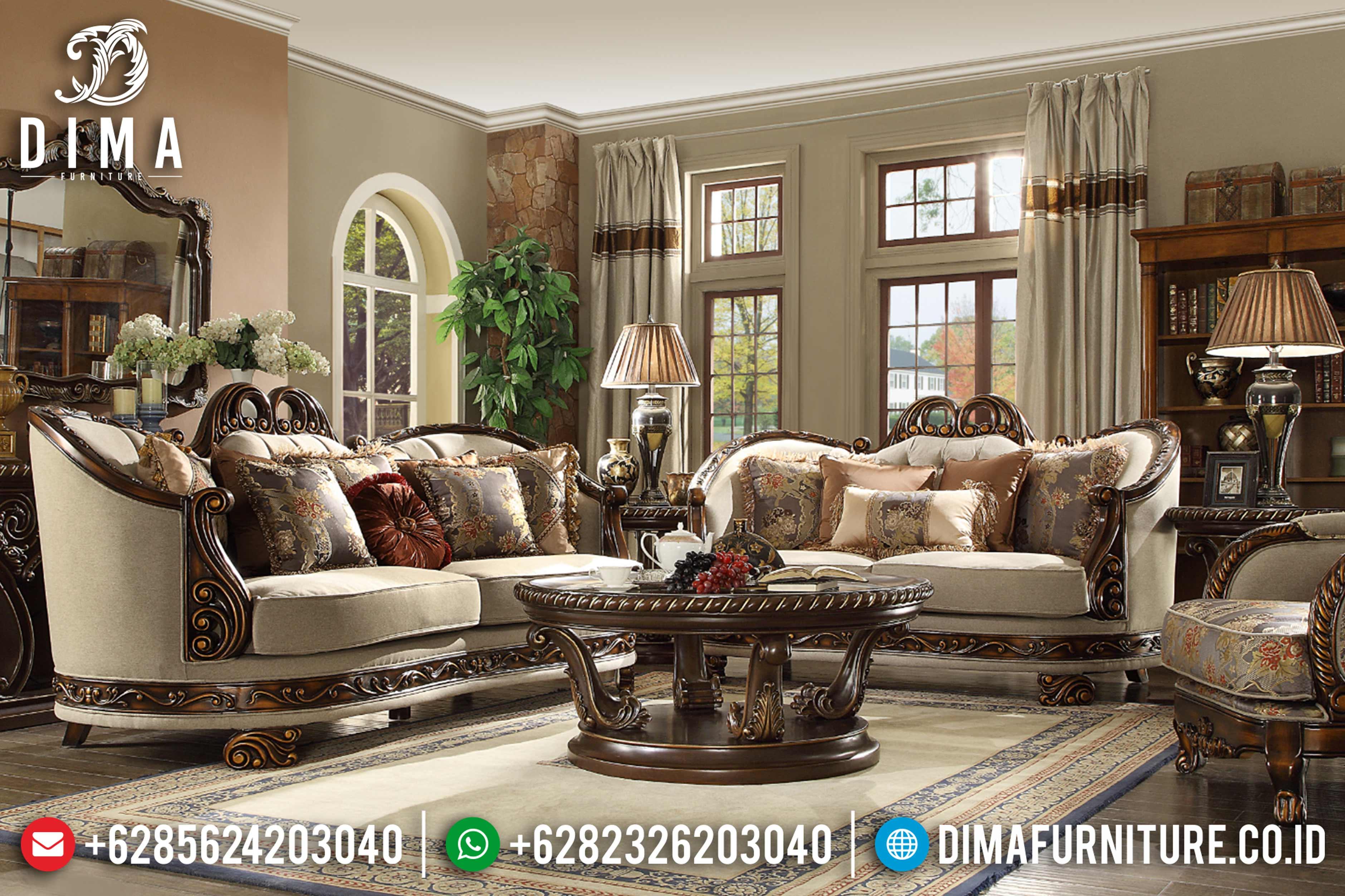 Jual 1 Set Sofa Tamu Mewah, Kursi Sofa Ruang Tamu Jepara, Sofa Terbaru 2020 DF-0792