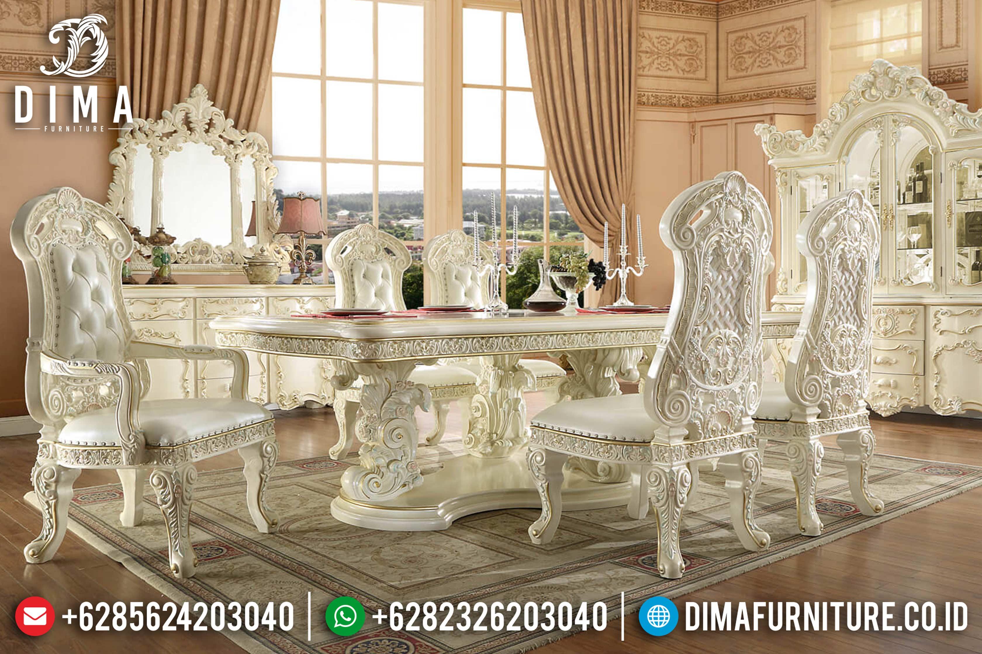 Kursi Meja Makan Terbaru, 1 Set Meja Makan Mewah, Meja Makan Jepara DF-0809
