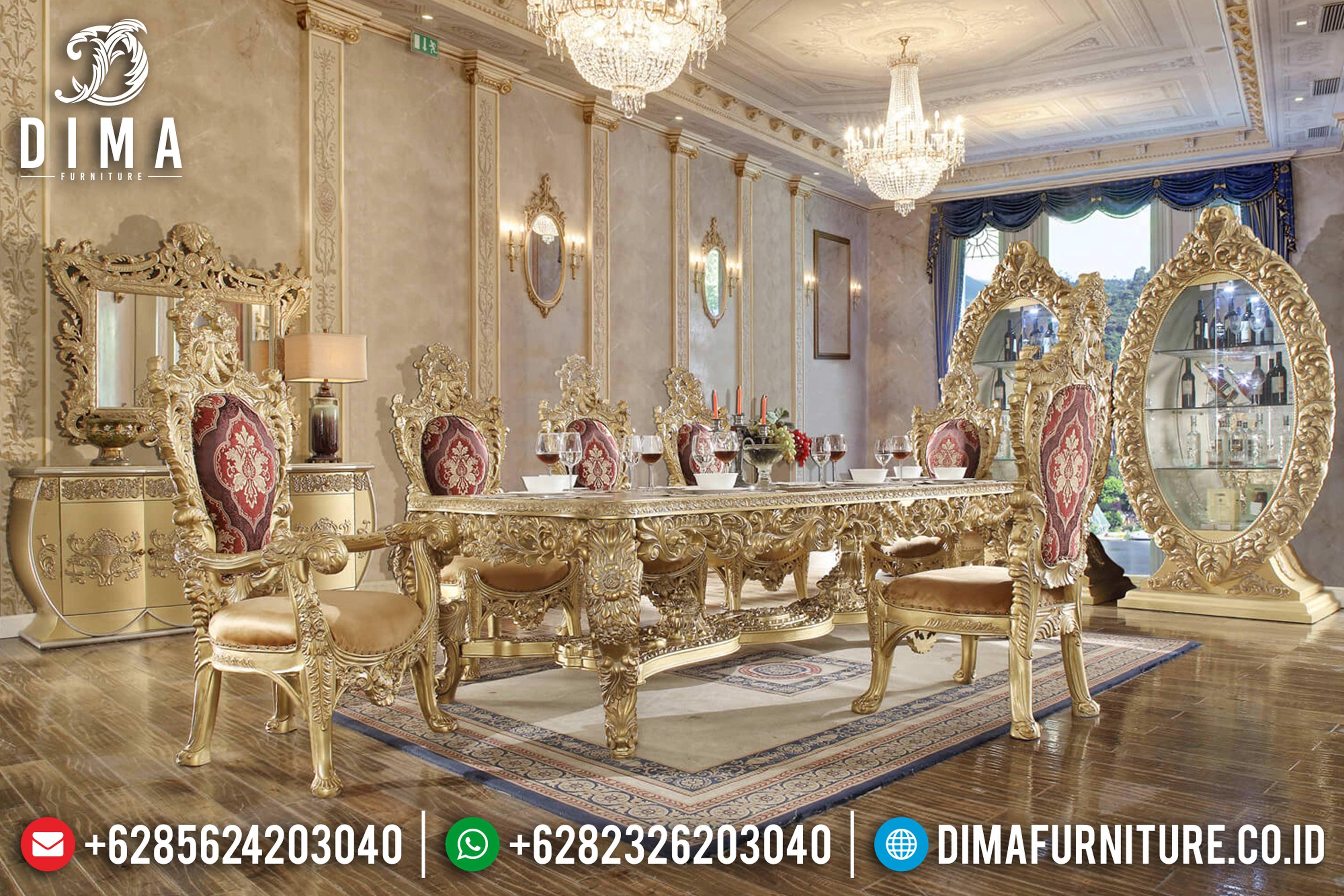 Meja Makan Mewah Klasik, Meja Makan Jepara Terbaru, Ruang Makan Mewah DF-0808