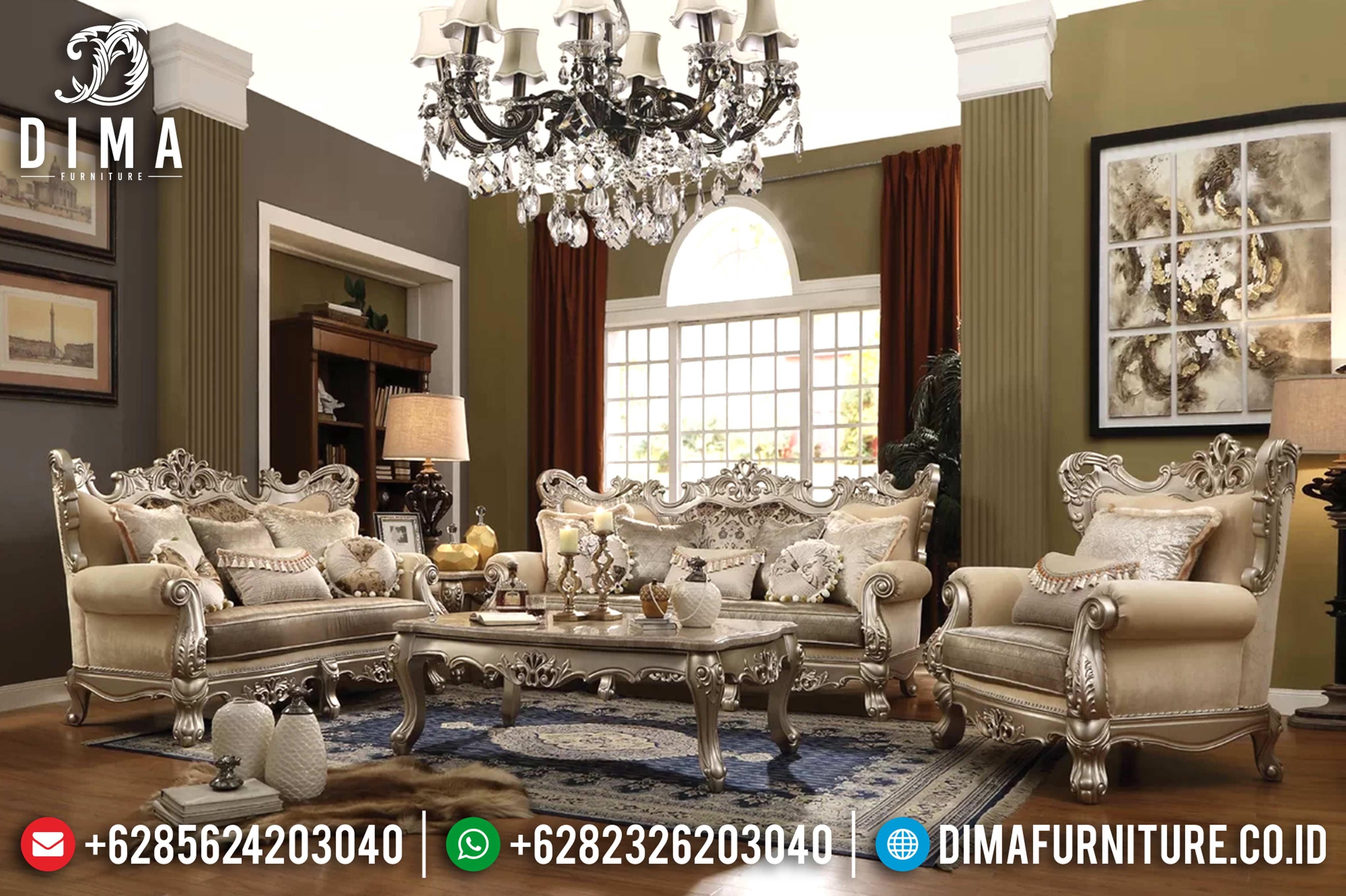 Produk Terbaru Mebel Jepara Set Sofa Tamu Mewah Klasik Jarred Style DF-0793